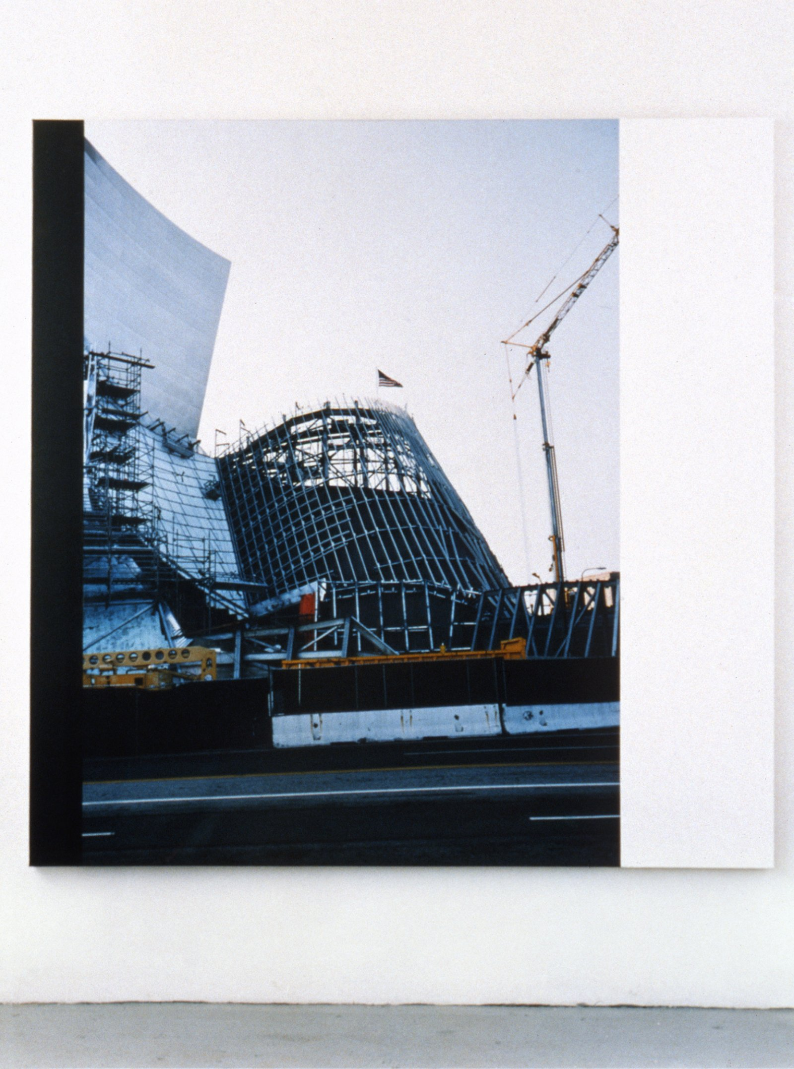Ian Wallace,Construction Site LA I, 2003,photolaminate and acrylic on canvas, 72 x 72 in. (183 x 183 cm)