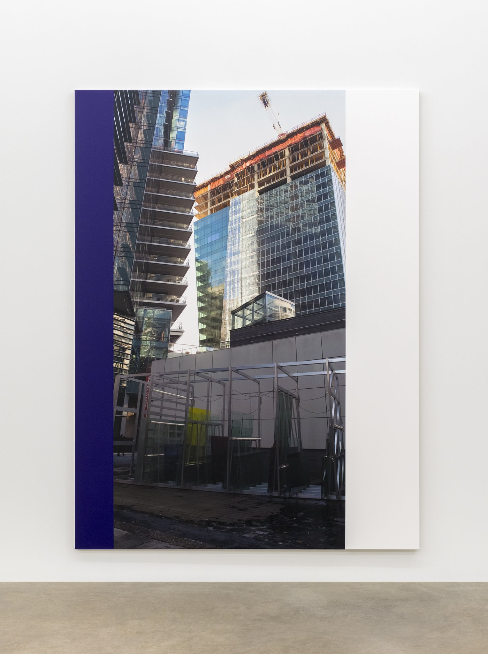 Ian Wallace, Construction Site (Off Site Installation), 2015, photolaminate and acrylic on canvas, 96 x 72 in. (244 x 183 cm) by Ian Wallace