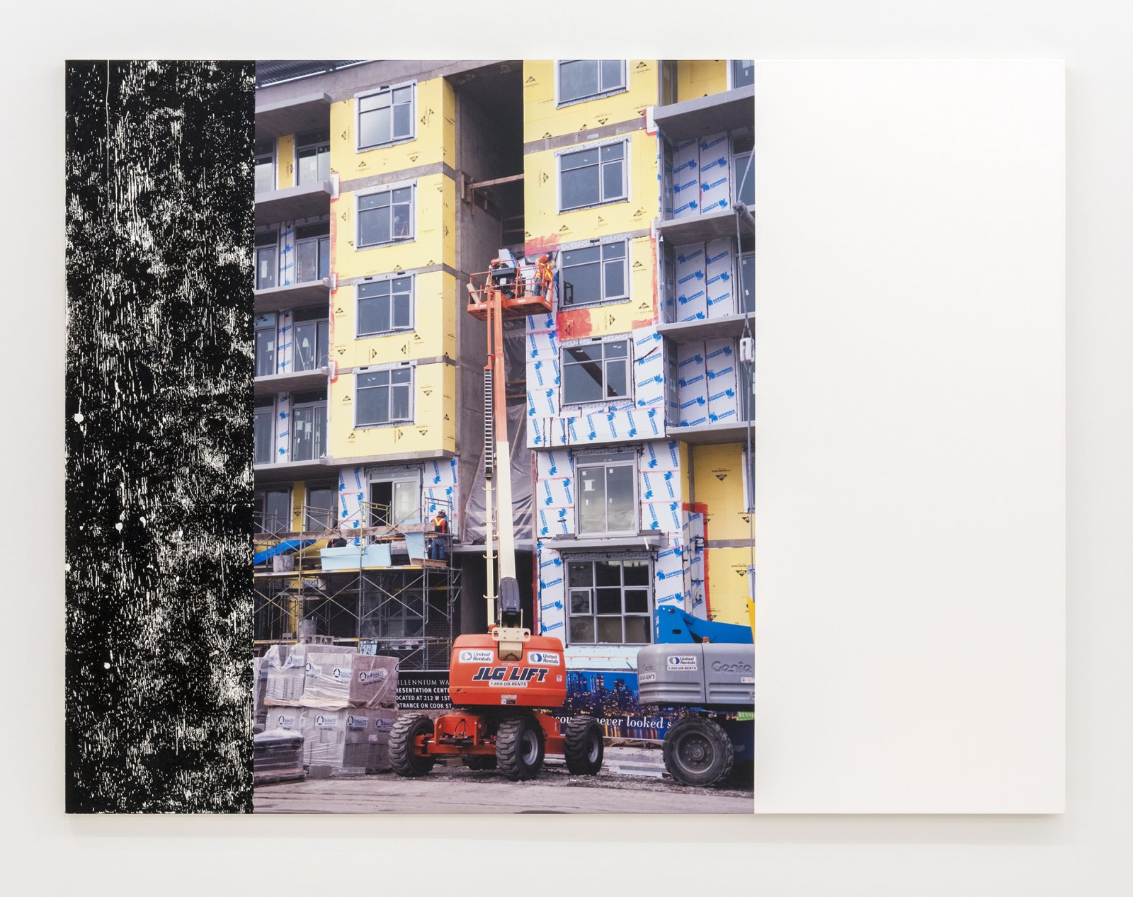 Ian Wallace, Construction Site (Olympic Village) II, 2011, photolaminate and acrylic on canvas, 72 x 96 in. (183 x 244 cm) by Ian Wallace