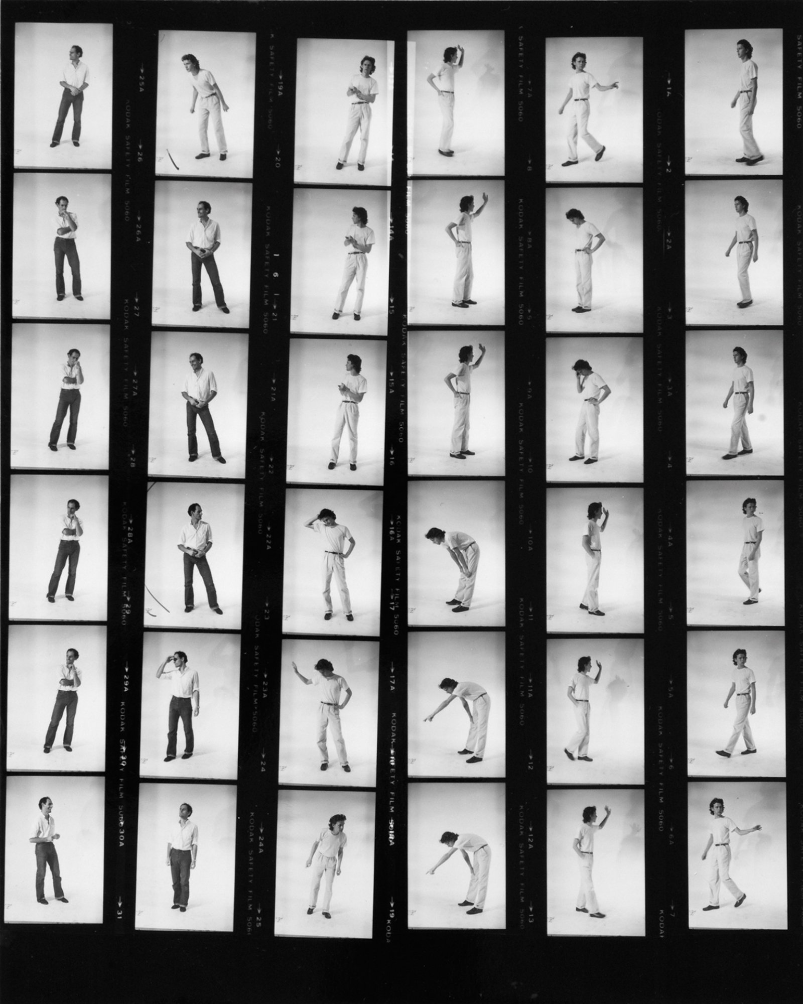 Ian Wallace, Contact sheets for Lookout, 1979, silver gelatin prints, 10 contact sheets, each 10 x 8 in. (25 x 20 cm)