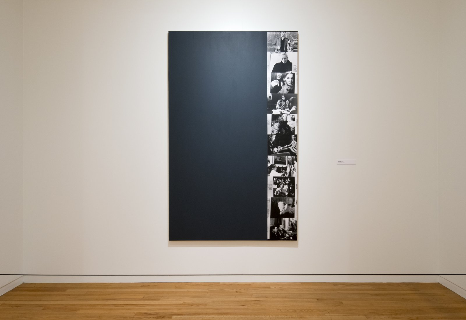 Ian Wallace, Decollage, 1990, photolaminate, acrylic on canvas, 80 x 48 in. (204 x 122 cm). Installation view, A Literature of Images, Vancouver Art Gallery, 2012 by Ian Wallace