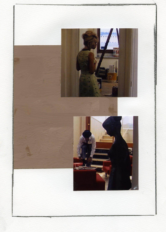 Ian Wallace, Enlarged Inkjet Study for Le Mépris III, 2010, inkjet print, 47 x 35 in. (119 x 89 cm)   by Ian Wallace