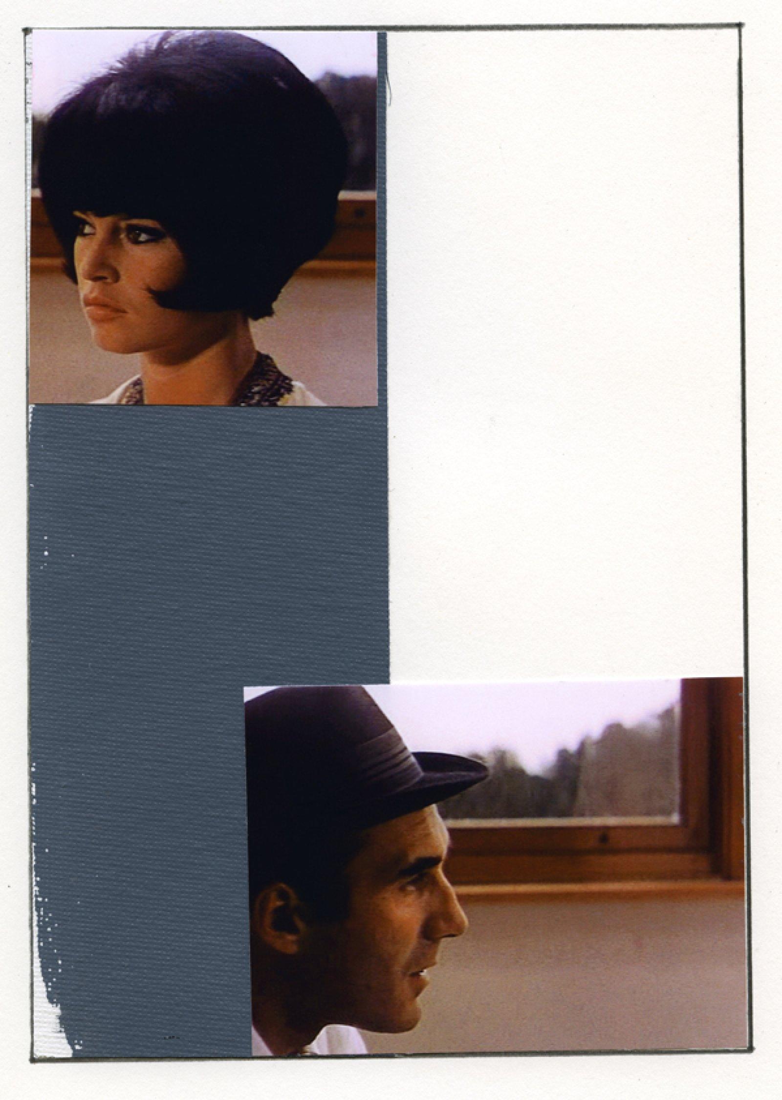 Ian Wallace, Enlarged Inkjet Study for Le Mépris II, 2010, inkjet print, 47 x 35 in. (119 x 89 cm)   by Ian Wallace