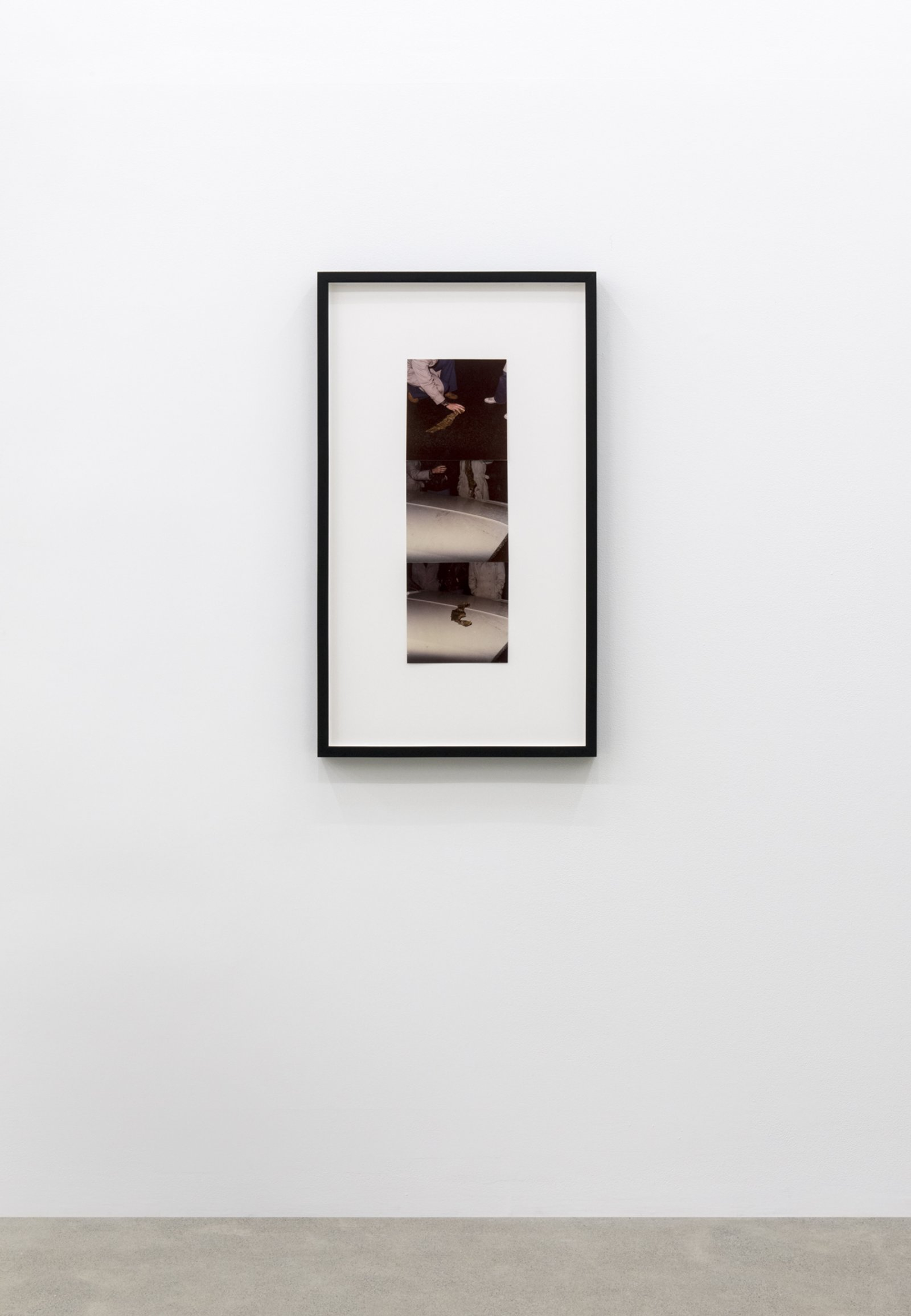 Ian Wallace, Found Object, 1977, 3 colour photographs, 37 x 21 in. (94 x 53 cm)