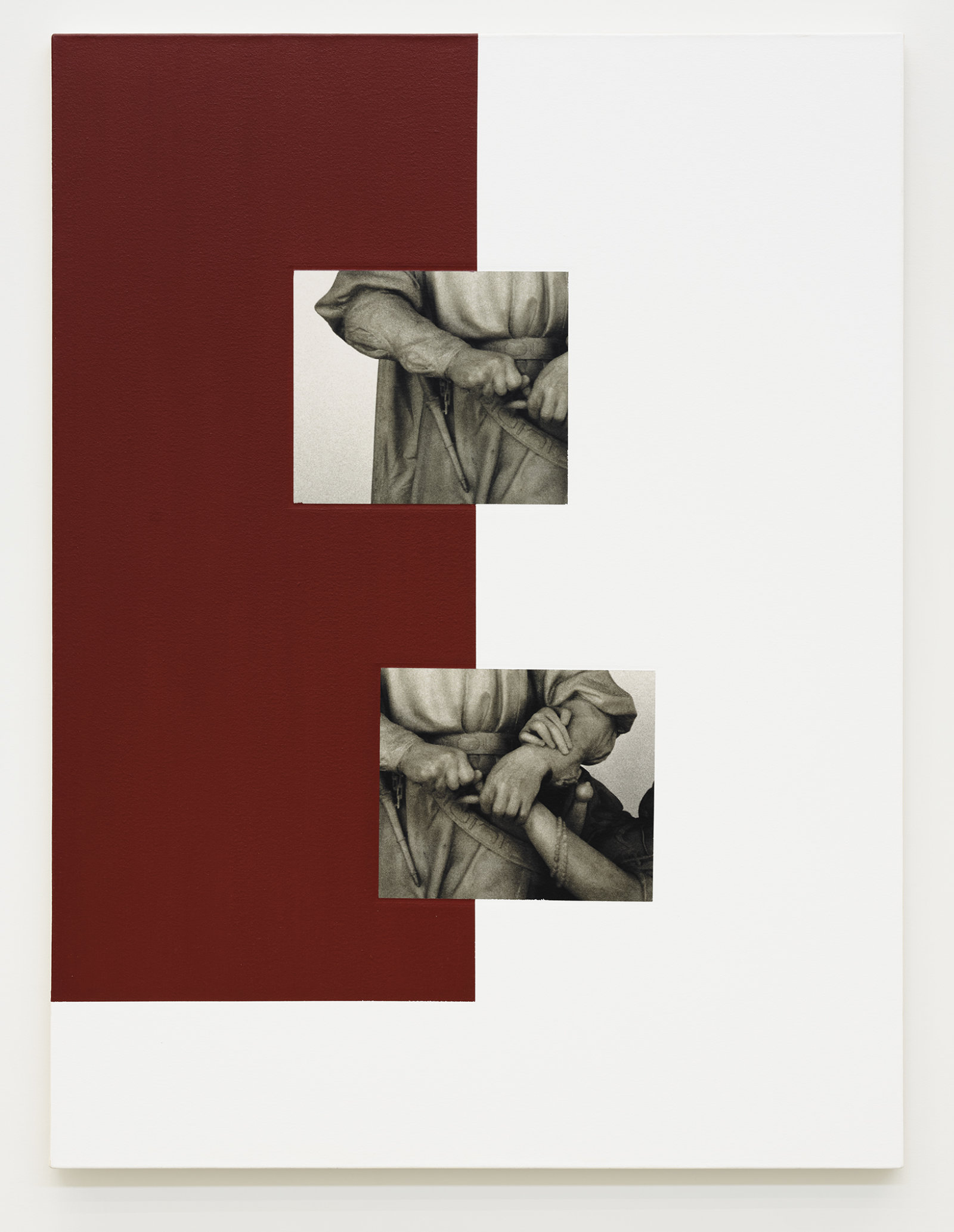 Ian Wallace, Historia, 2008, photolaminate with acrylic on canvas, 48 x 36 in. (122 x 91 cm) by Ian Wallace