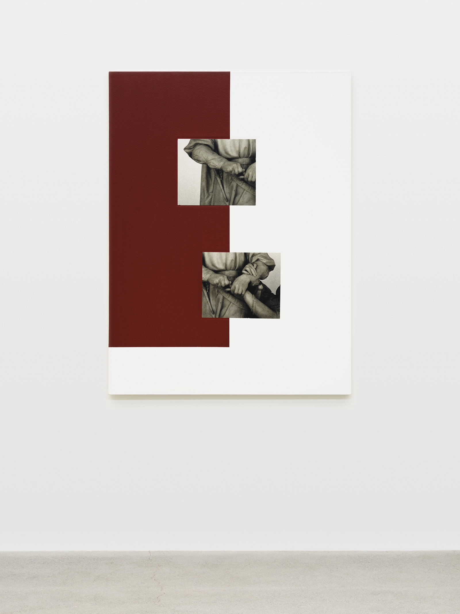 Ian Wallace, Historia, 2008, photolaminate with acrylic on canvas, 48 x 36 in. (122 x 91 cm)
