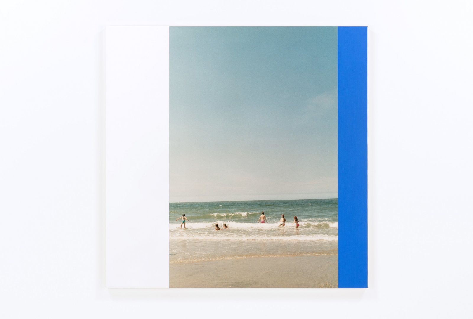 Ian Wallace,Hommage a Mondrian XVI(Beach at Domburg III), 1990, photolaminate and acrylic on canvas, 48 x 48 in. (122 x 122 cm)