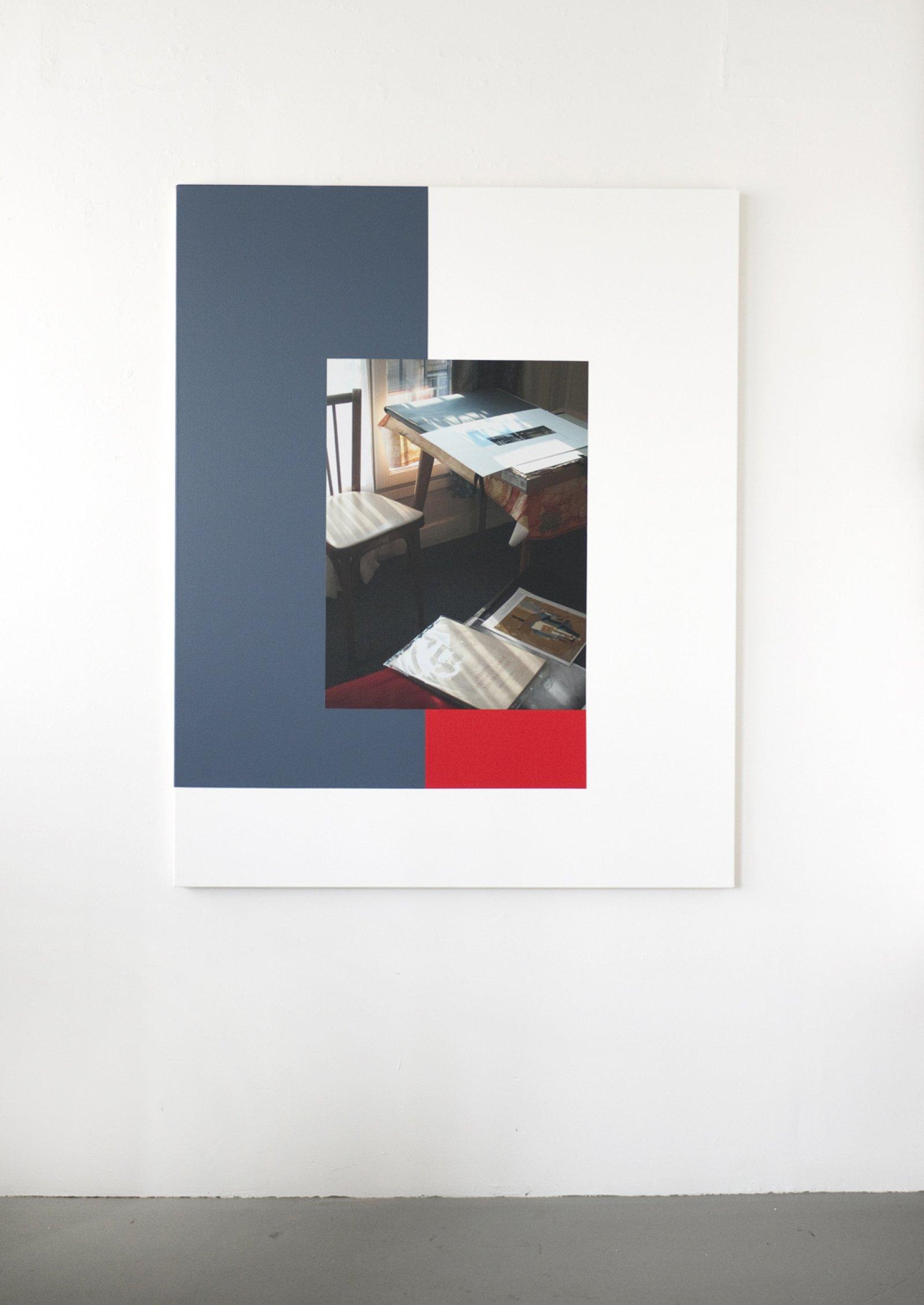 Ian Wallace,Hotel Rivoli (22 November 2003) III, 2012,photolaminate and acrylic on canvas, 60 x 48 in. (153 x 122 cm)