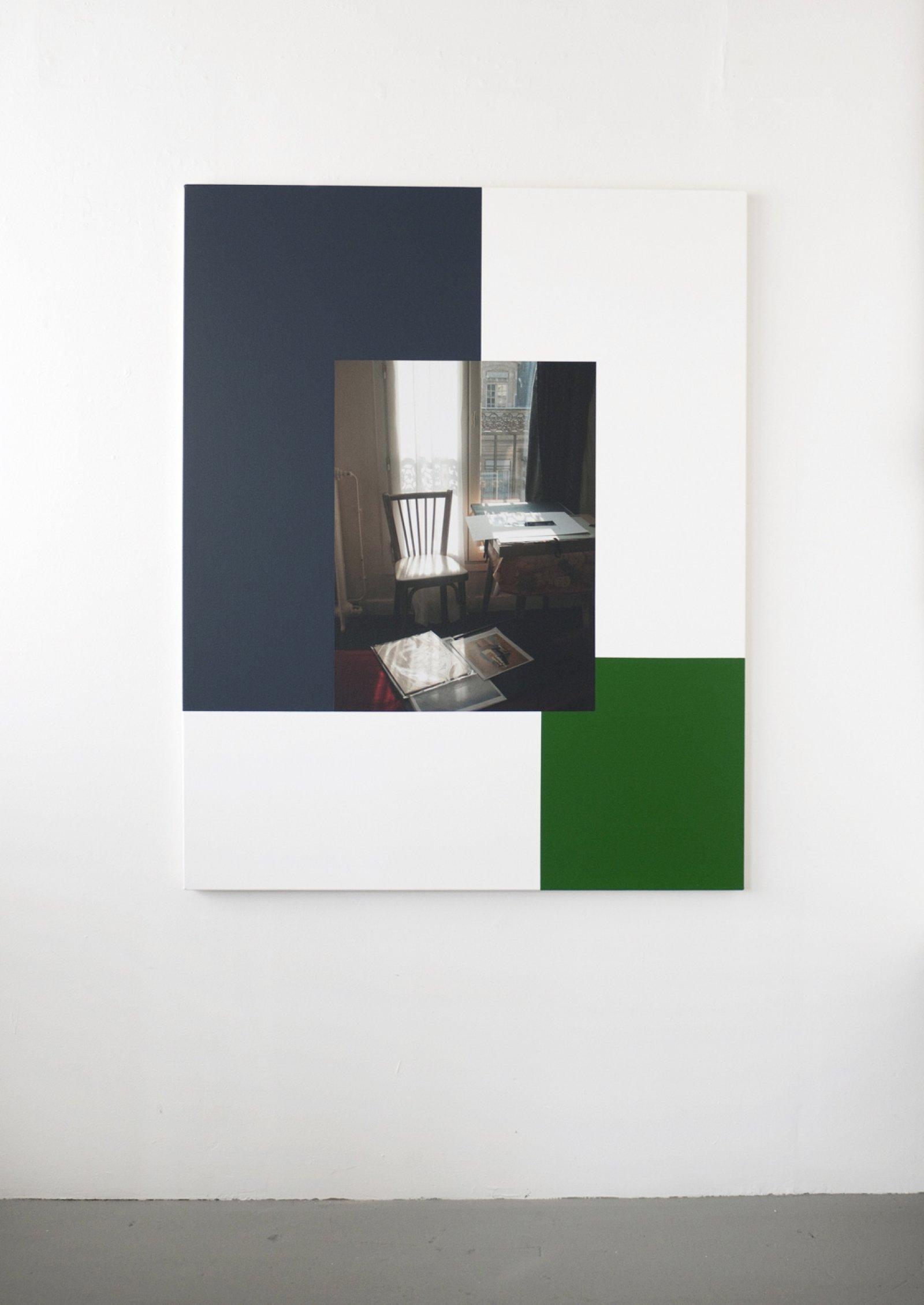 Ian Wallace,Hotel Rivoli (22 November 2003) II, 2012,photolaminate and acrylic on canvas, 60 x 48 in. (153 x 122 cm)