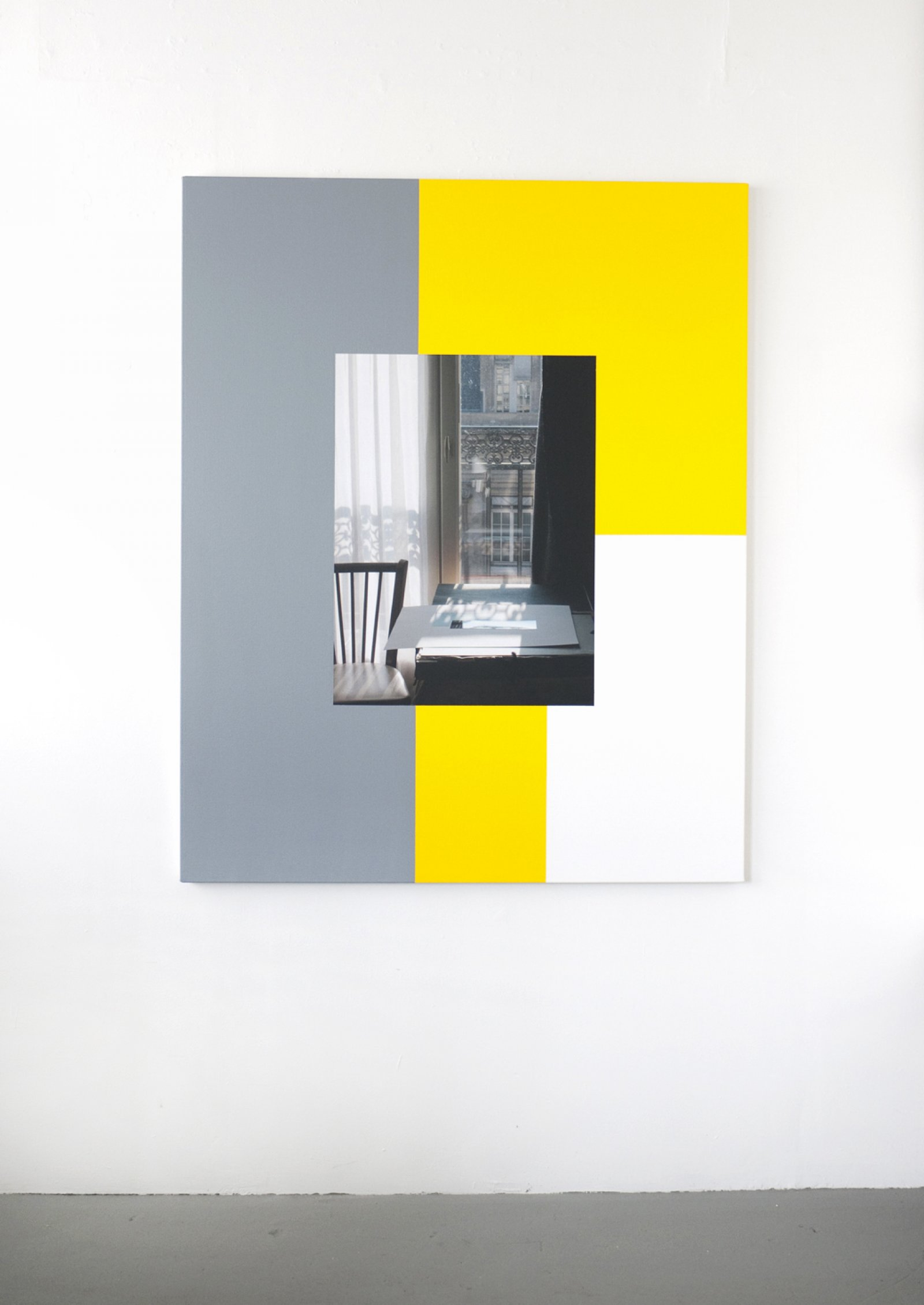 Ian Wallace,Hotel Rivoli (22 November 2003) I, 2012,photolaminate and acrylic on canvas, 60 x 48 in. (153 x 122 cm)