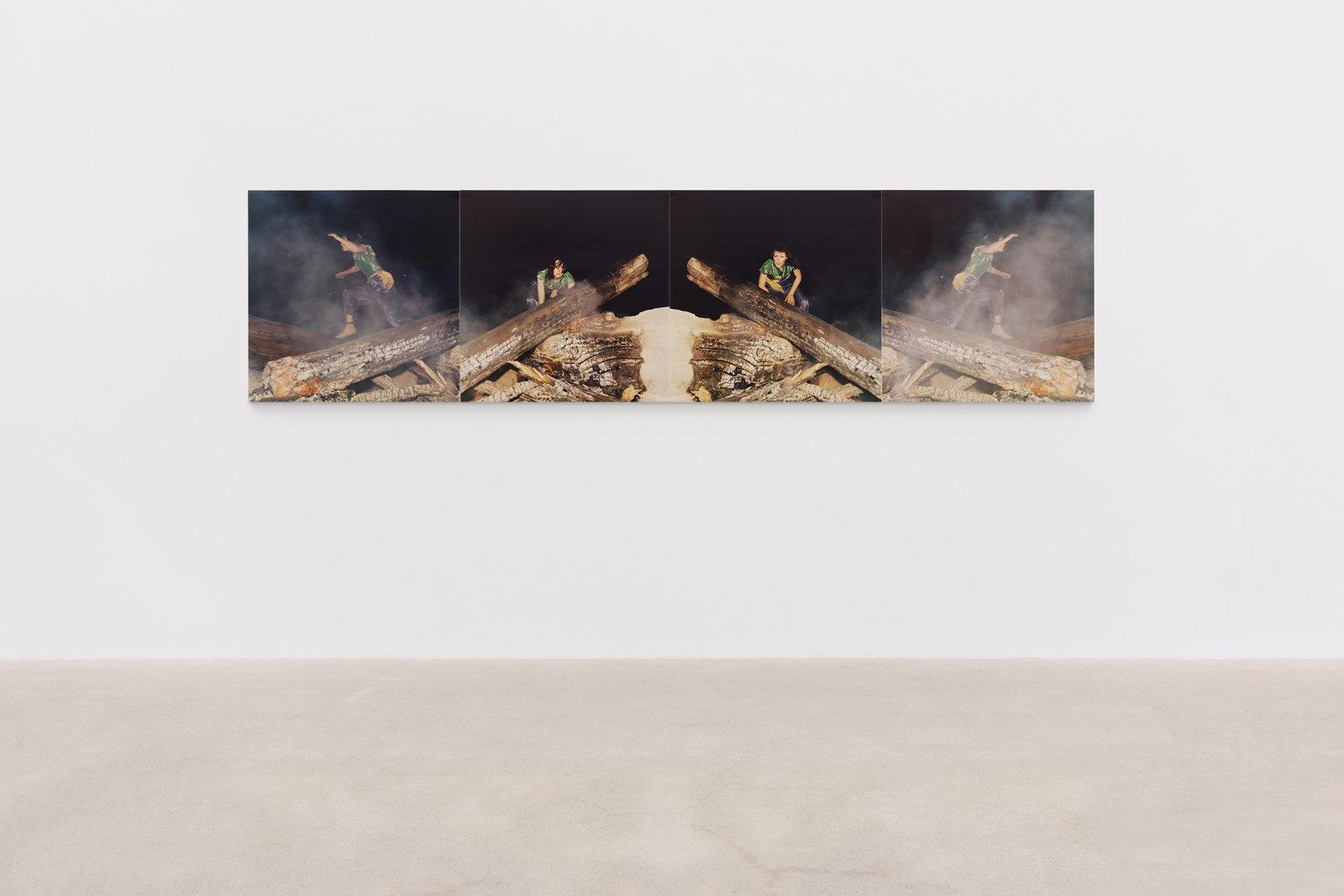 Ian Wallace, Hypnerotomachia (the Fire), 1977, 4 c-prints, 29 x 116 in. (74 x 295 cm)