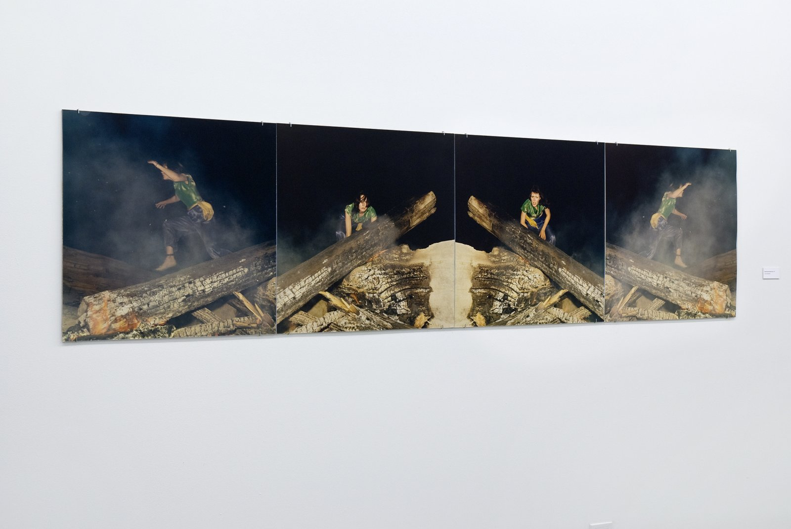 Ian Wallace, Hypnerotomachia (the Fire), 1977, 4 c-prints, 29 x 116 in. (74 x 295 cm) by Ian Wallace