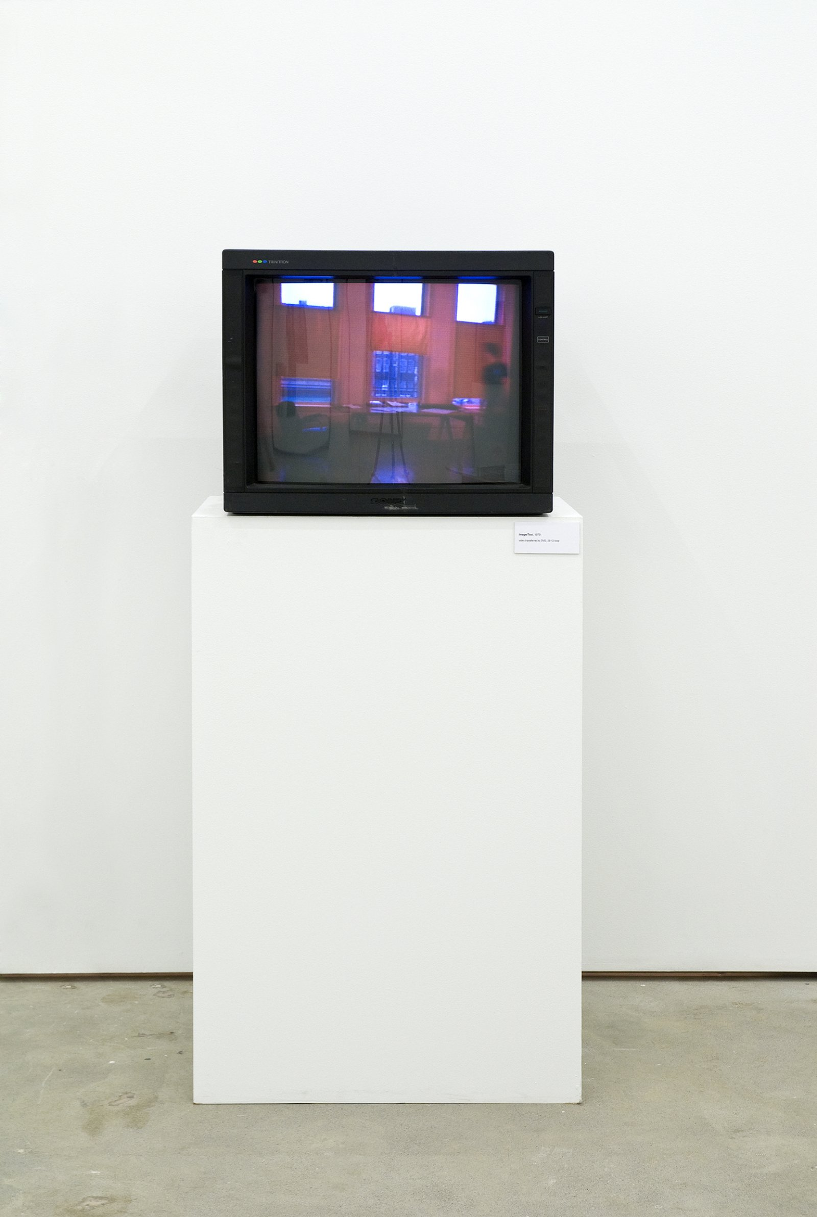 Ian Wallace, Image/Text, 1979, 3/4 inch video transferred to DVD, 29 minutes, 12 seconds looped by Ian Wallace
