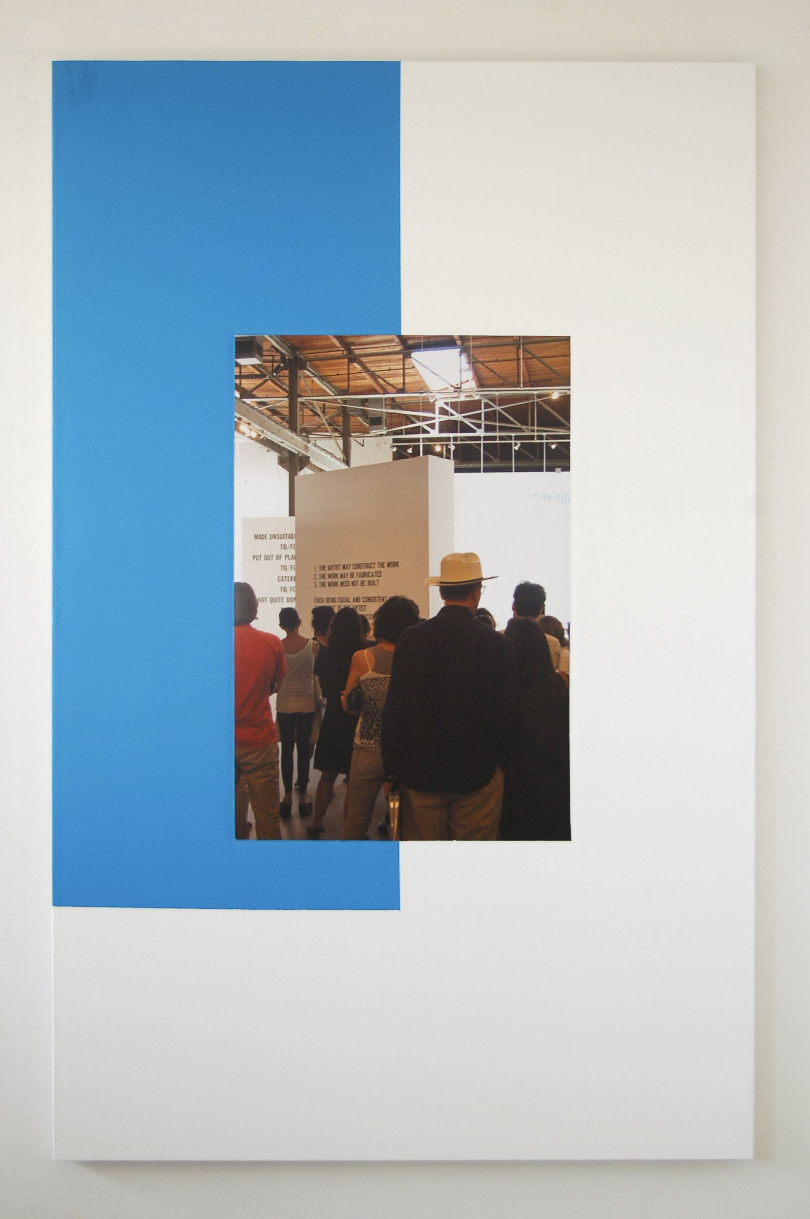 Ian Wallace,In the Museum Los Angeles, 2009,photolaminate and acrylic on canvas,78 x 48 in. (198 x 122 cm)