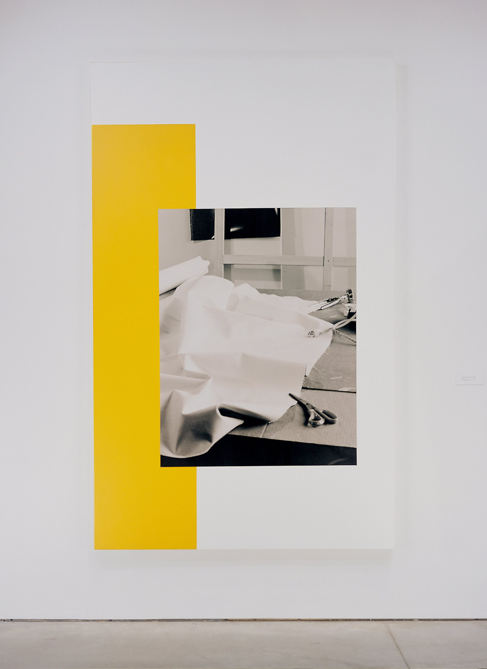 Ian Wallace,In the Studio (with orange), 2002,photolaminate and acrylic on canvas,96 x 60 in. (244 x 152 cm)
