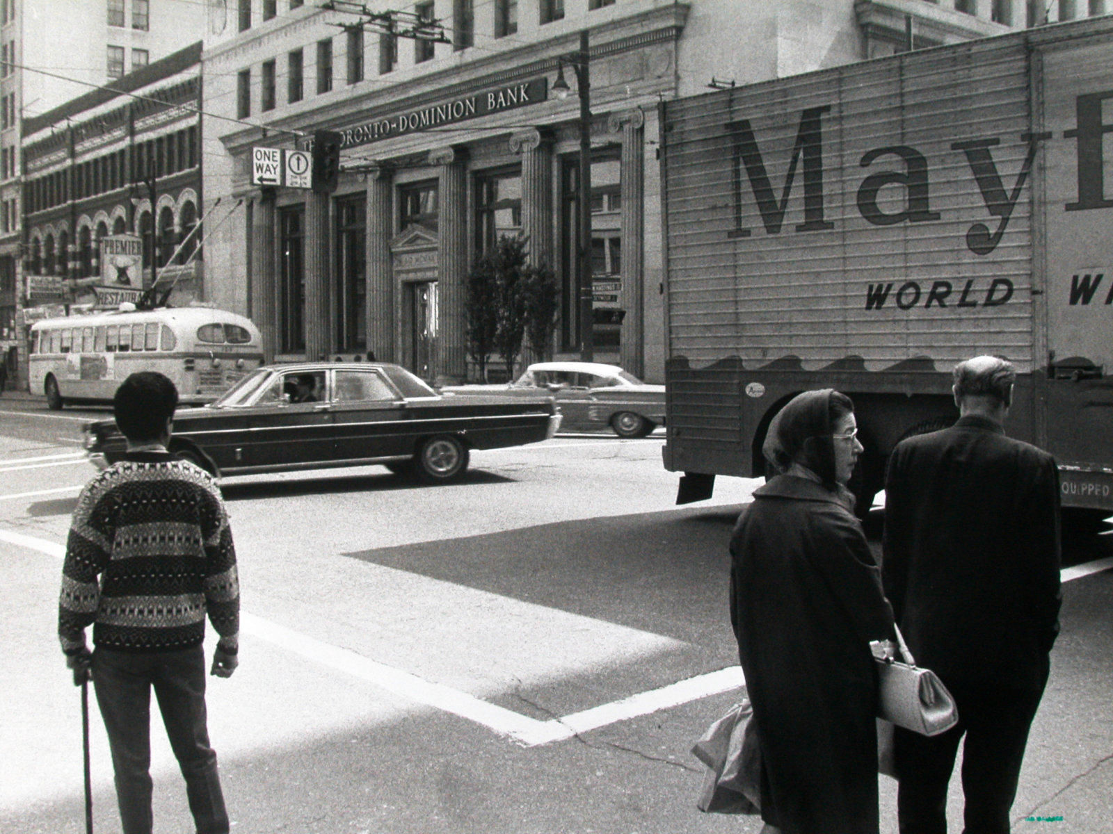 Ian Wallace, Intersection 1970, 1970–2008, black and white photograph, 10 x 14 in. (24 x 36 cm)