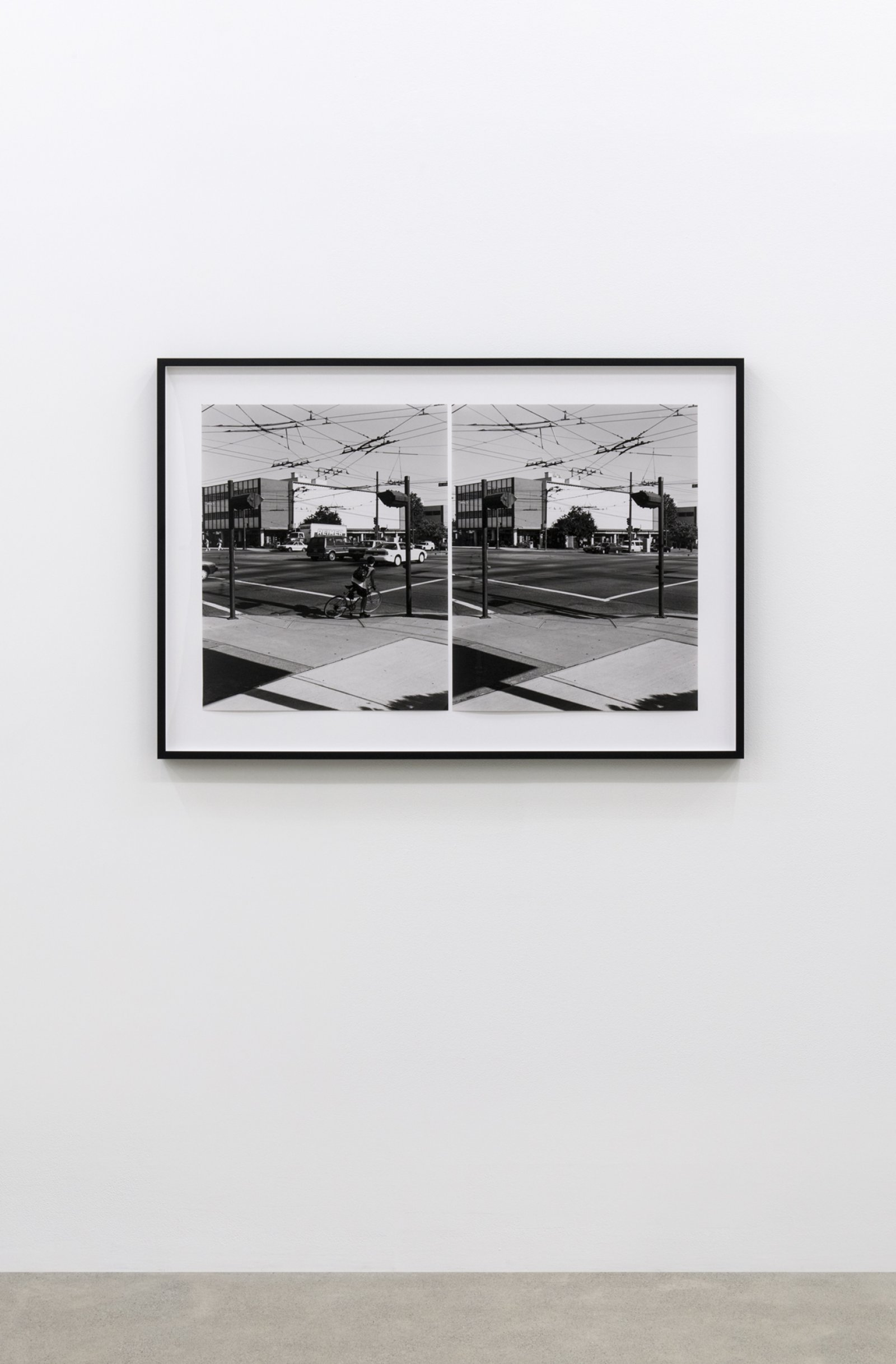 Ian Wallace, Intersection (Cambie and 41st Street), 1996, two black and white photographs, 23 x 19 in. (60 x 48 cm)