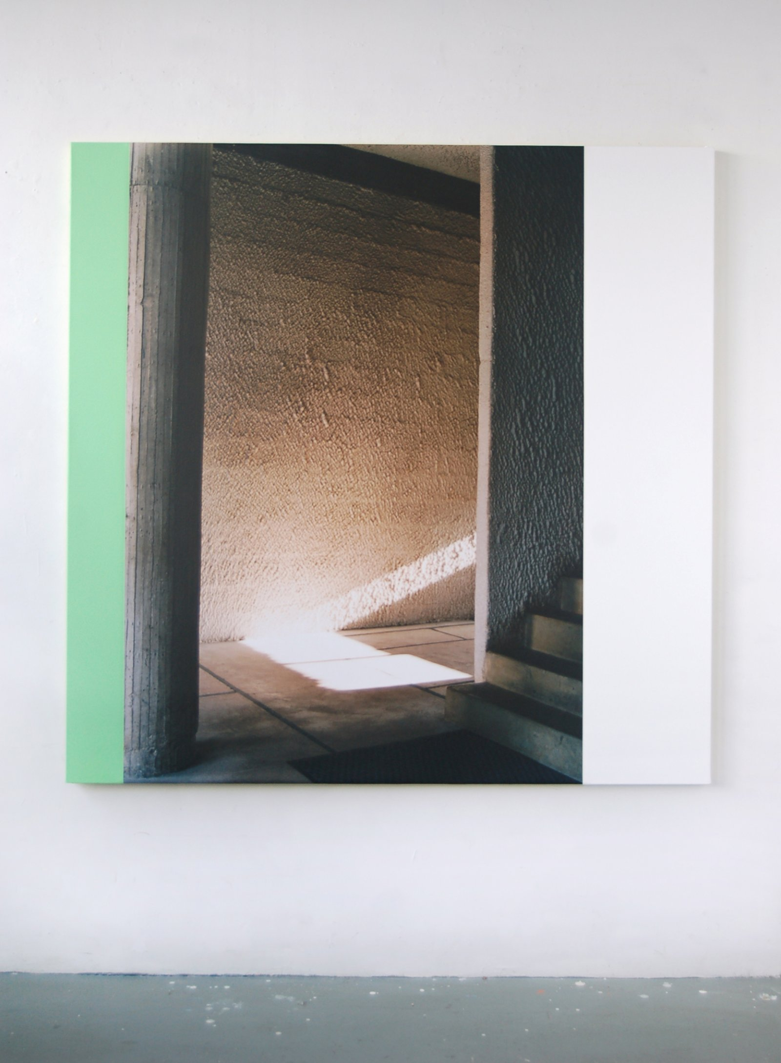 Ian Wallace,La Tourette (A Beam of Light), 2006, photolaminate and acrylic on canvas, 60 x 60 in. (152 x 152 cm)
