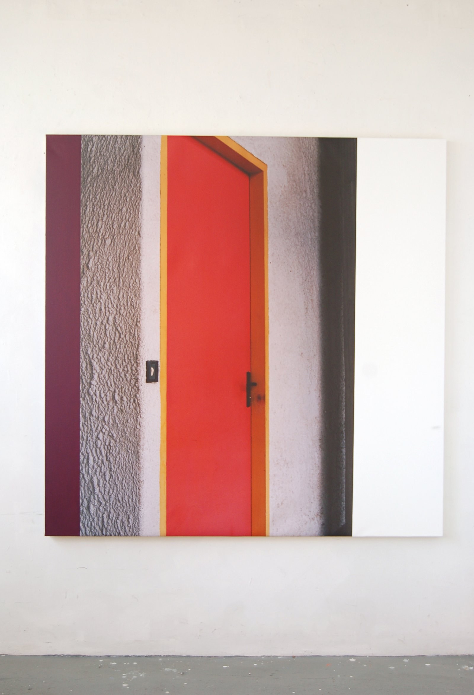 Ian Wallace,La Tourette (Exterior of Cell), 2006, photolaminate and acrylic on canvas, 60 x 60 in. (152 x 152 cm)
