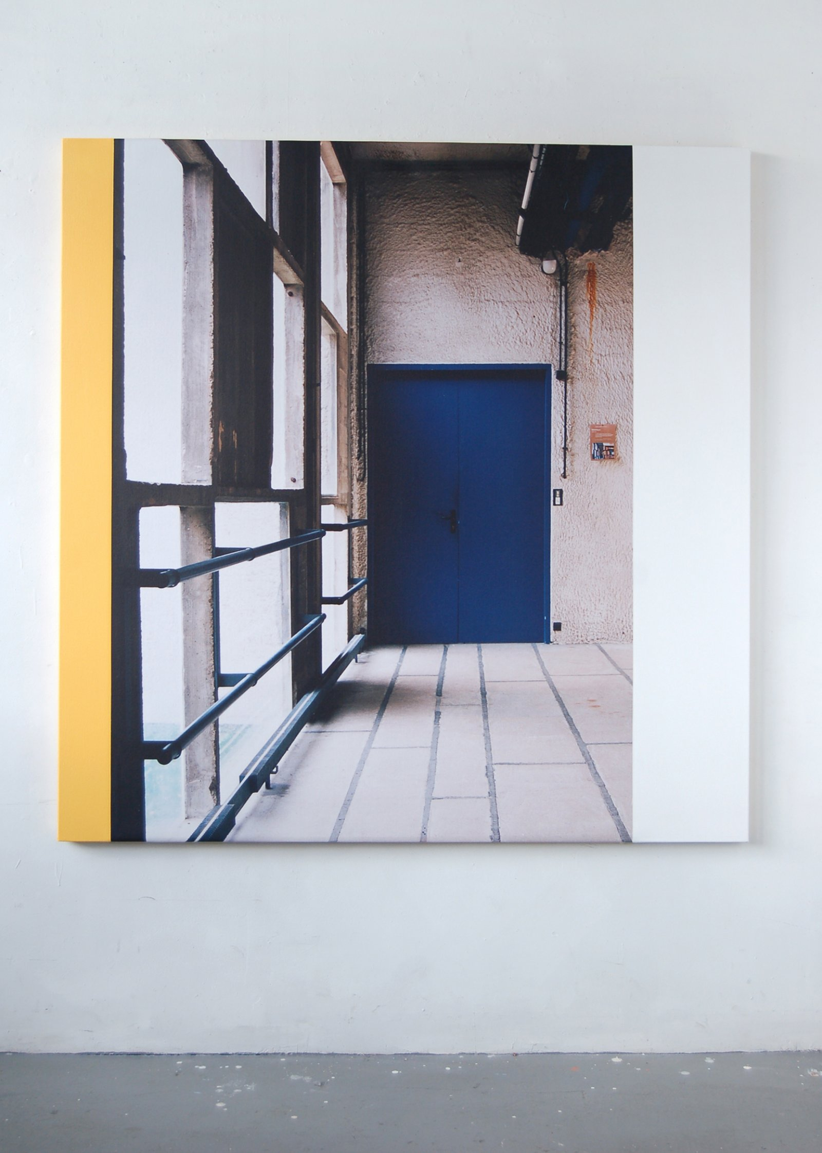 Ian Wallace,La Tourette (The Passage), 2006, photolaminate and acrylic on canvas, 60 x 60 in. (152 x 152 cm)