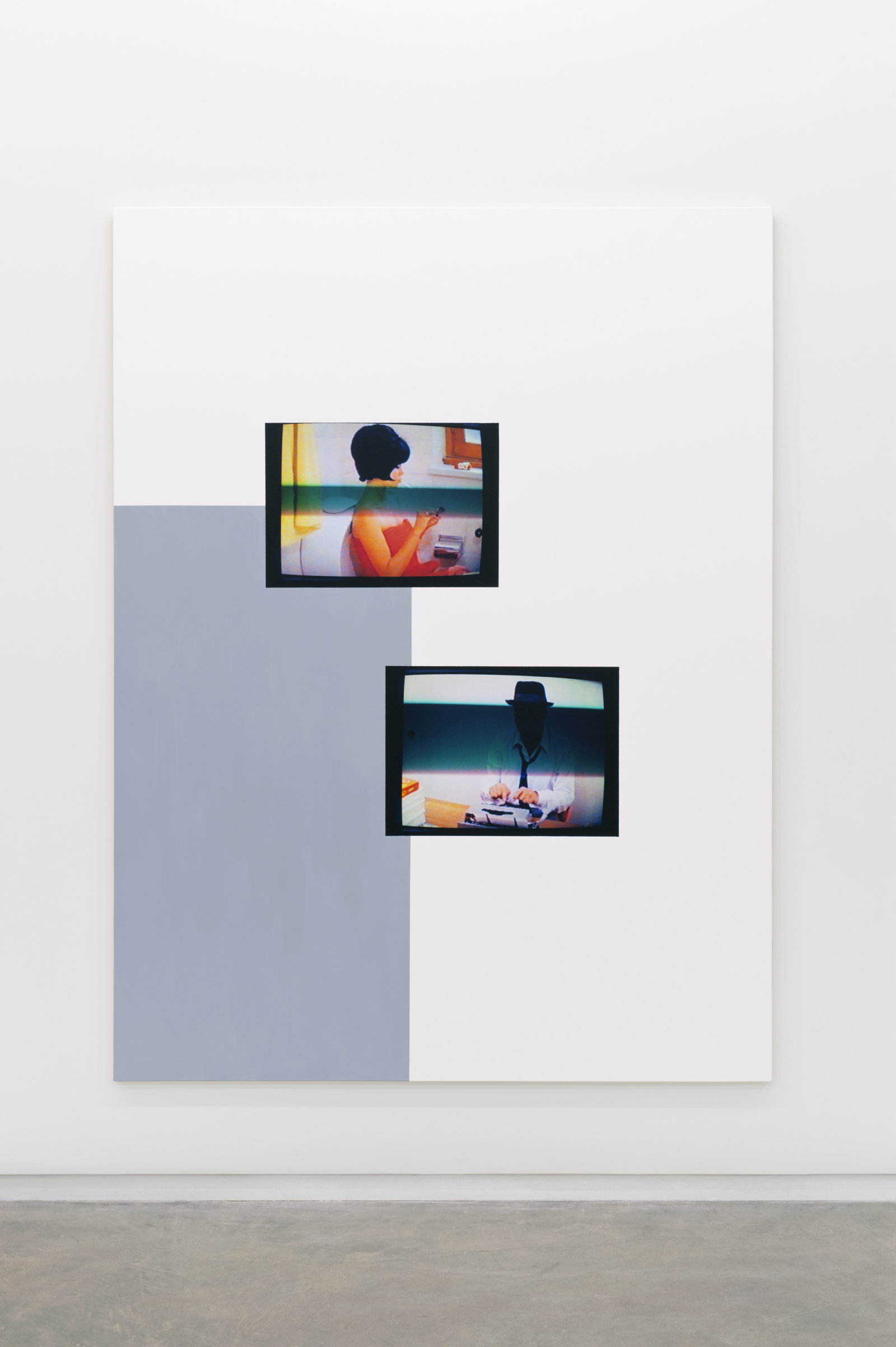 Ian Wallace, Le Mépris (Division In Space), 2010, photolaminate and acrylic on canvas, 96 x 72 in. (244 x 183 cm) by Ian Wallace