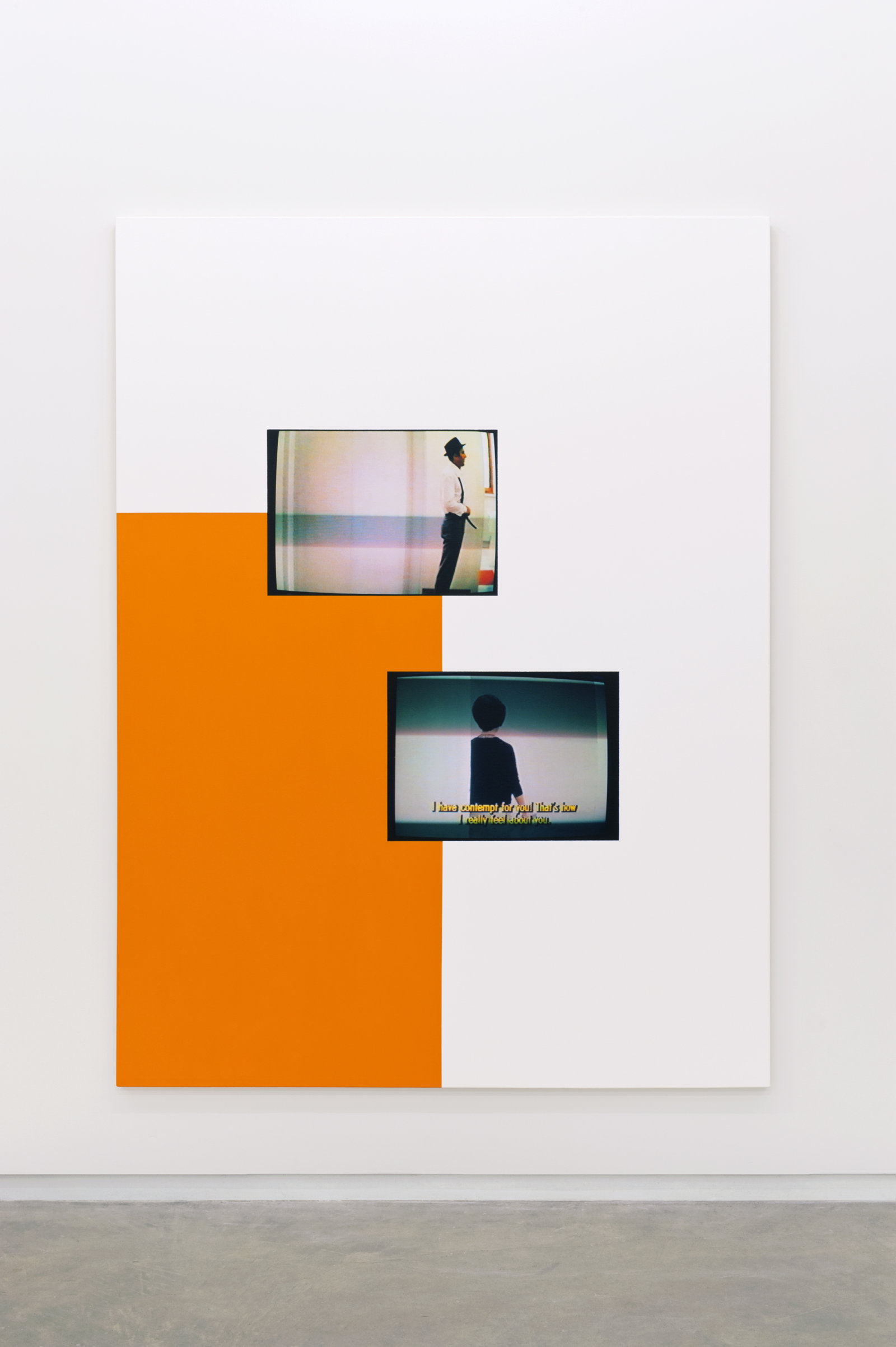Ian Wallace, Le Mépris (The Contempt Scene), 2010, photolaminate and acrylic on canvas, 96 x 72 in. (244 x 183 cm) by Ian Wallace