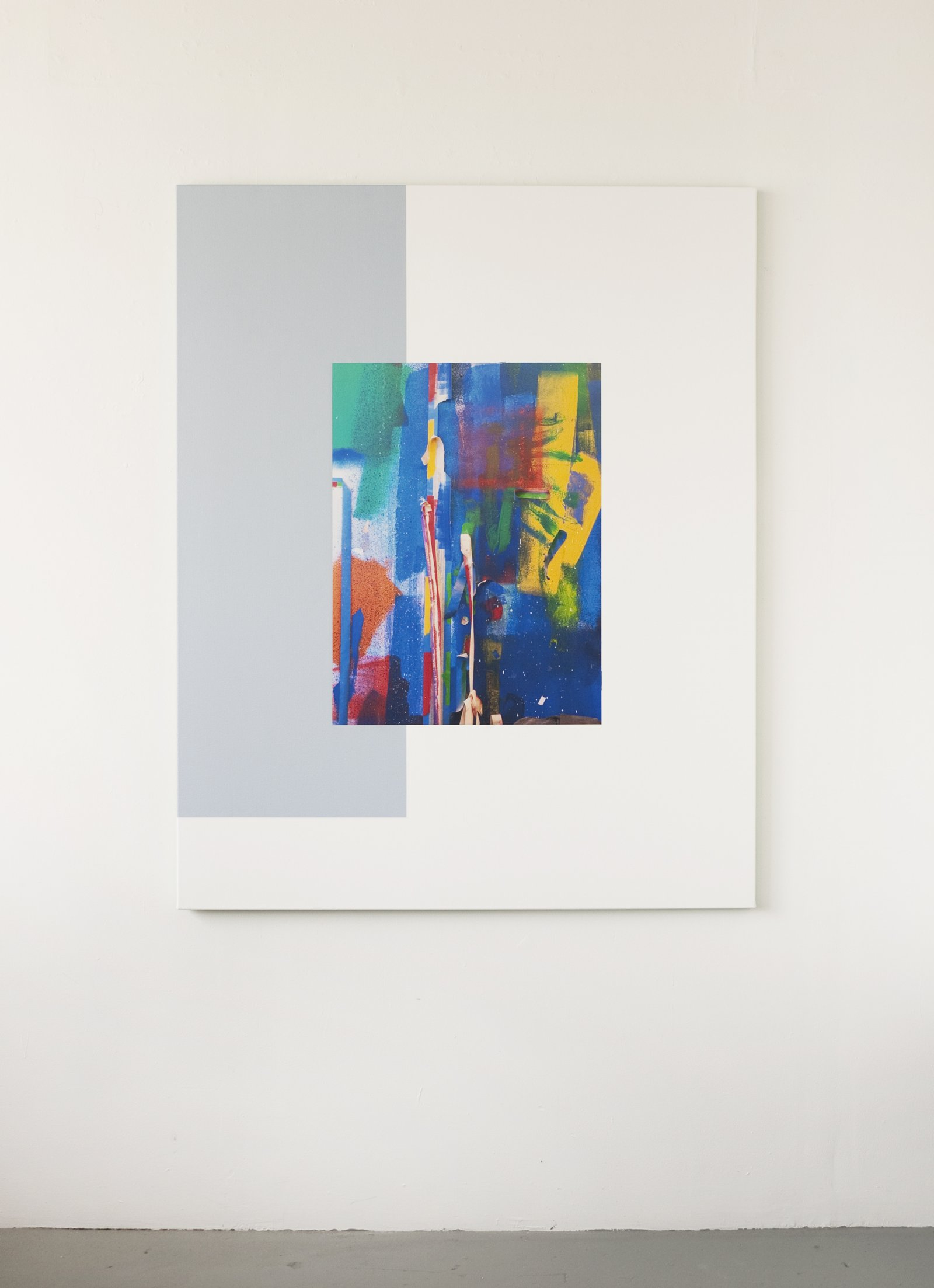 Ian Wallace,Les Traces de la Peinture (Molinari Series) III, 2012,photolaminate and acrylic on canvas, 60 x 48 in. (152 x 122 cm)