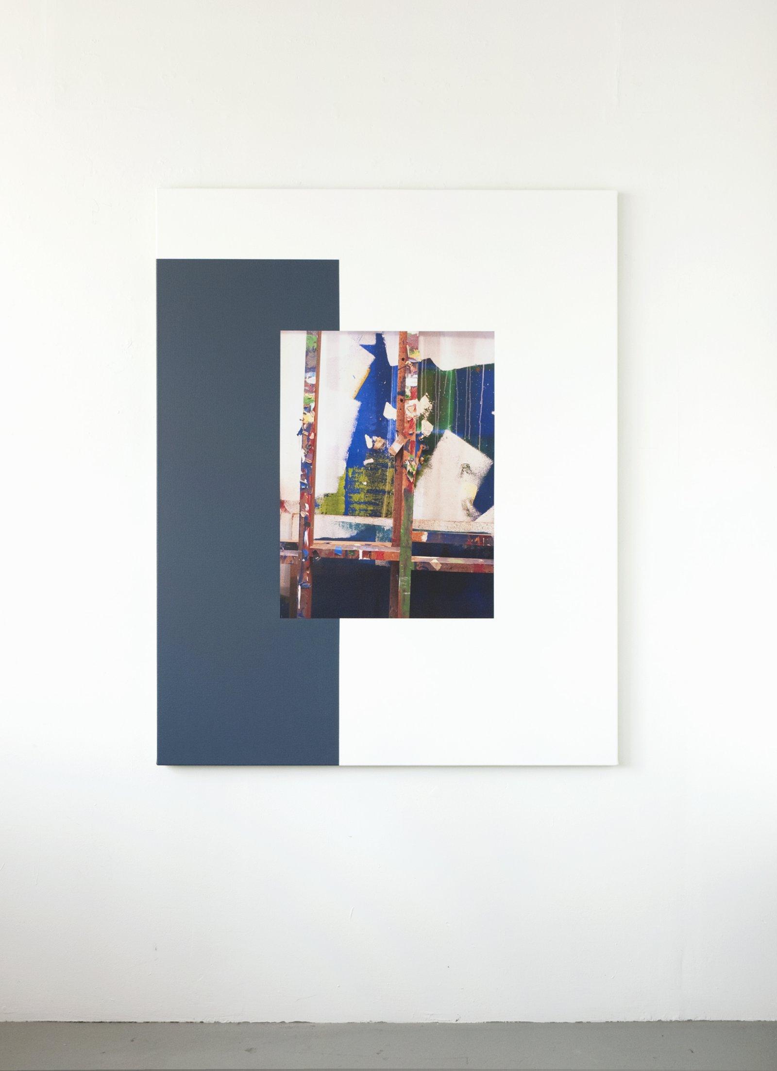 Ian Wallace,Les Traces de la Peinture (Molinari Series) II, 2012,photolaminate and acrylic on canvas, 60 x 48 in. (152 x 122 cm)