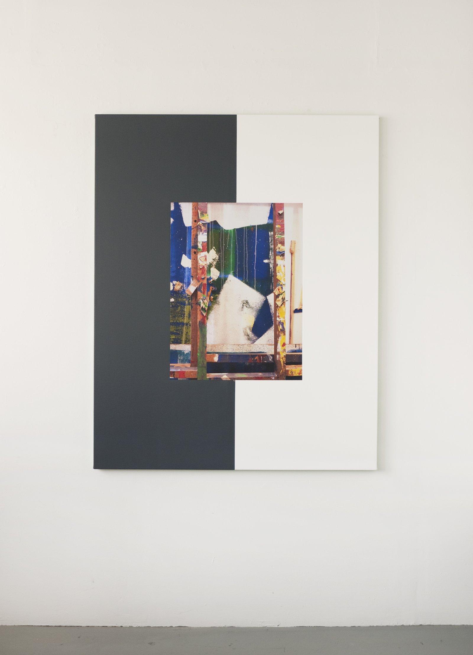 Ian Wallace,Les Traces de la Peinture (Molinari Series) IV, 2012,photolaminate and acrylic on canvas, 60 x 48 in. (152 x 122 cm)
