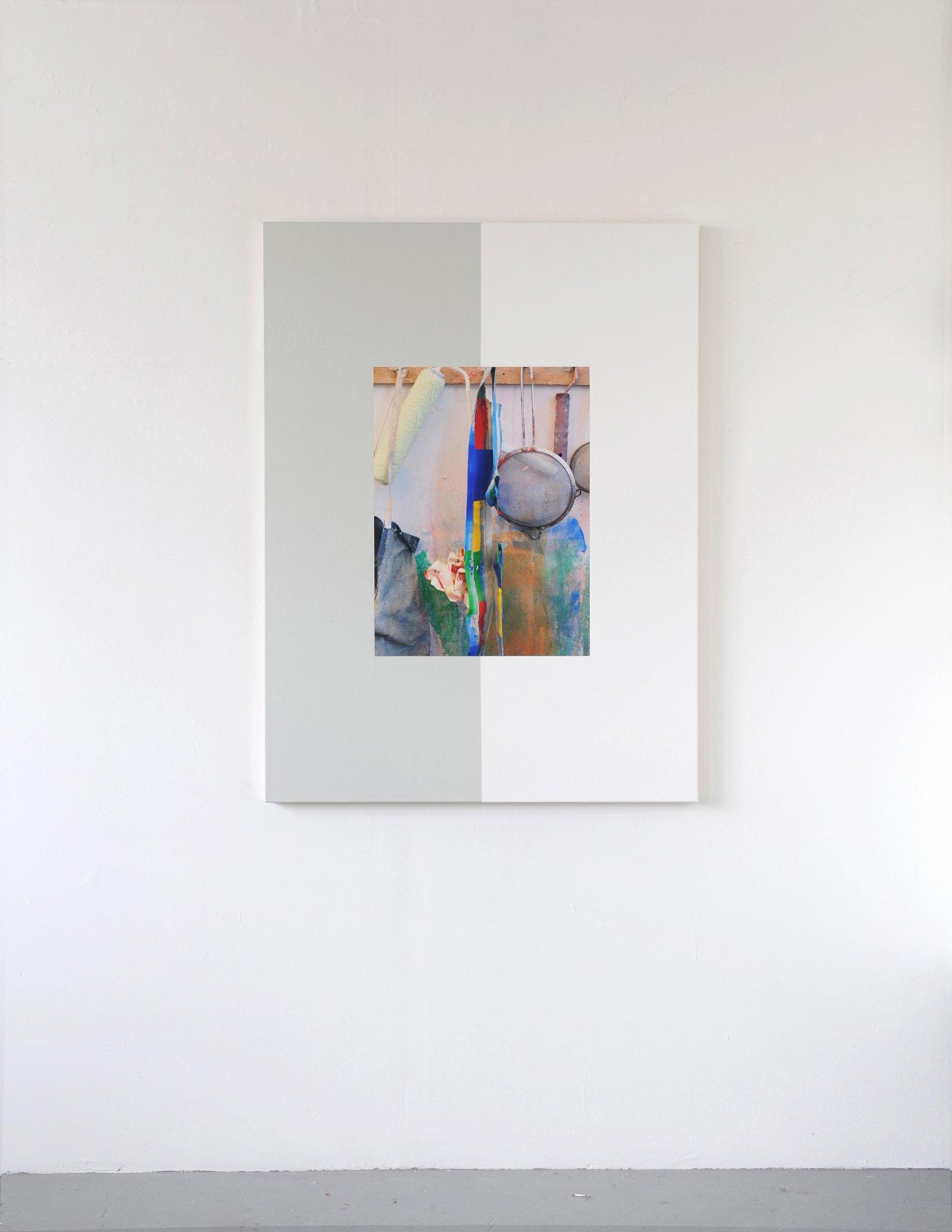 Ian Wallace,Les Traces de la Peinture (Molinari Series) VI, 2012,photolaminate and acrylic on canvas, 60 x 48 in. (152 x 122 cm)