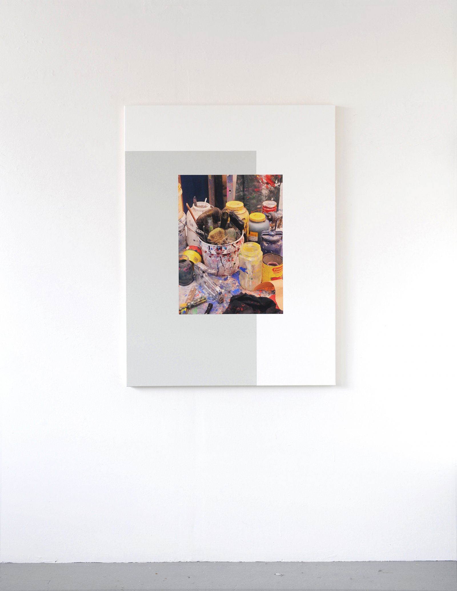 Ian Wallace,Les Traces de la Peinture (Molinari Series) V, 2012,photolaminate and acrylic on canvas, 60 x 48 in. (152 x 122 cm)
