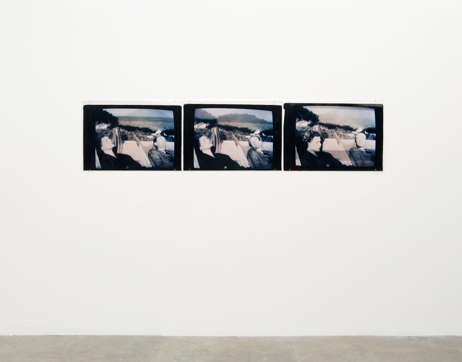 Ian Wallace, MF Stills (from Viaggio en Italia) I, II, III, 1997, 3 c-prints, 20 x 83 in. (51 x 211 cm) by Ian Wallace