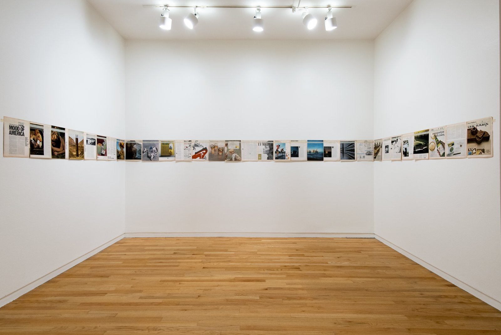 Ian Wallace, Magazine Piece (Look Magazine, November 18, 1969), 1969–2012, magazine pages, tape, dimensions variable. Installation view, A Literature of Images, Vancouver Art Gallery, 2012 by Ian Wallace