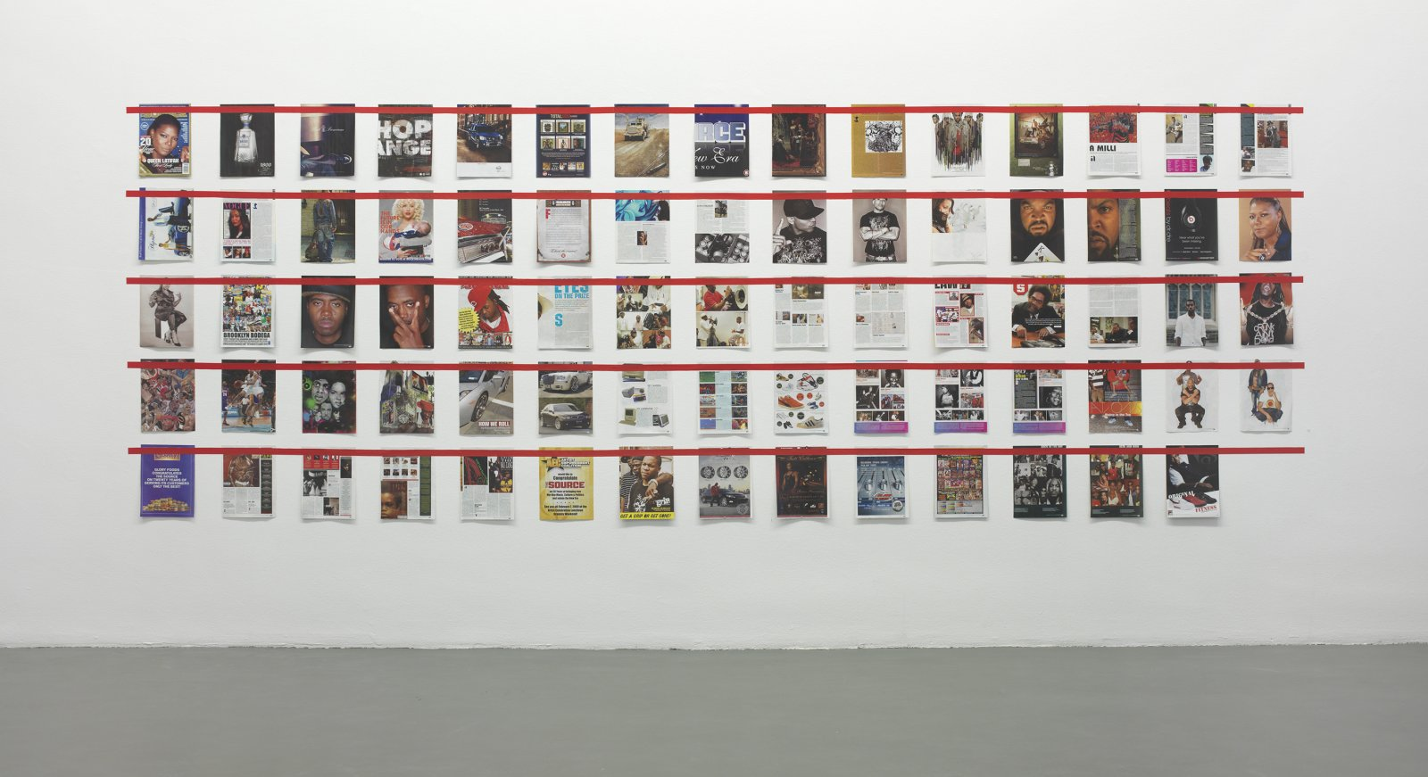Ian Wallace,Magazine Piece, 1970–2008, magazine pages, tape, dimensions variable