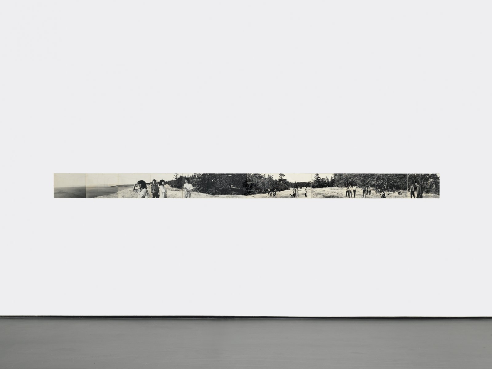 Ian Wallace, Maquette for Lookout, 1979, vintage silver gelatin print, 11 x 163 in. (27 x 414 cm)