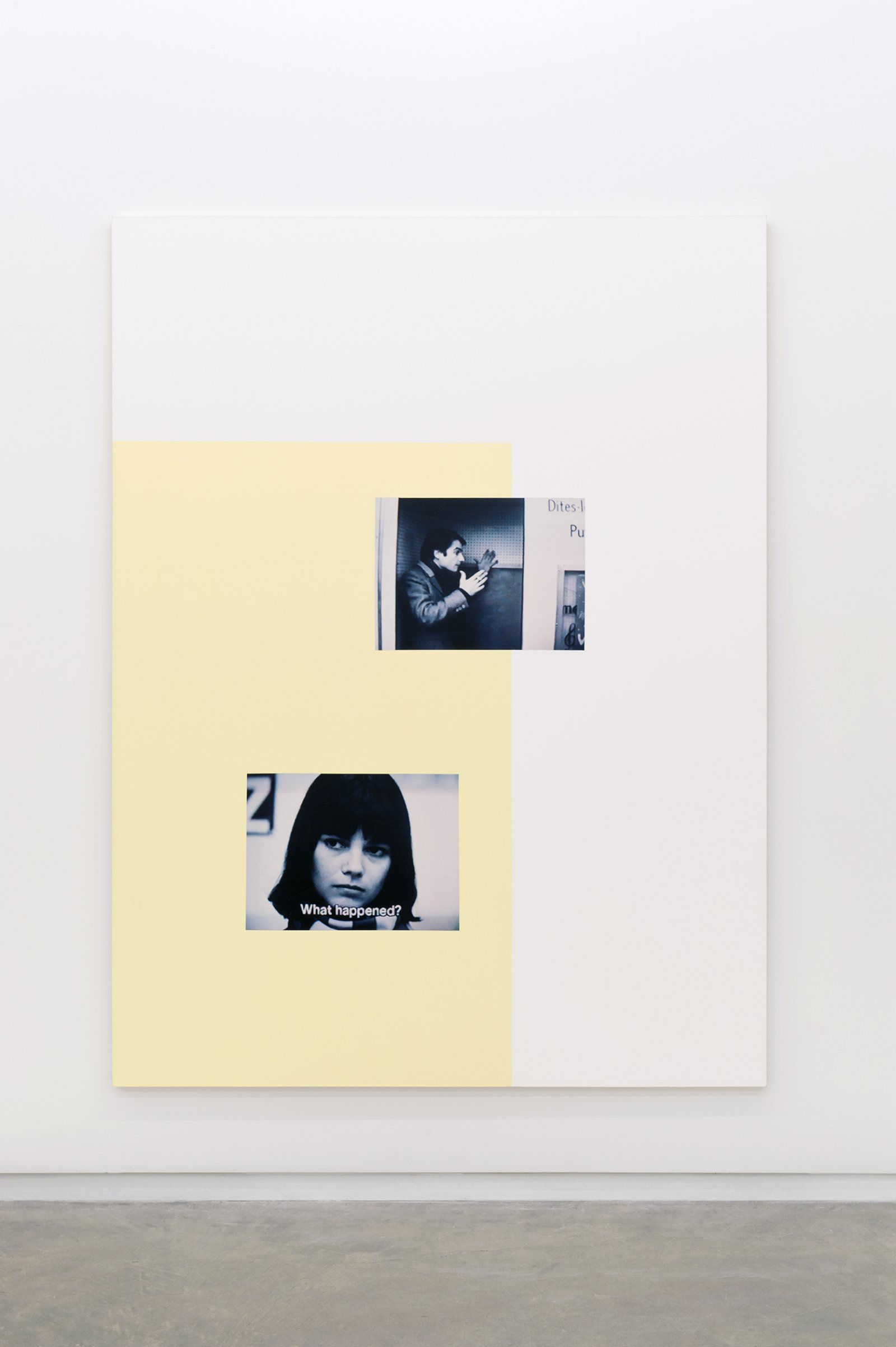 Ian Wallace, Masculin/Feminin II, 1997, photolaminate and acrylic on canvas, 96 x 72 in. (244 x 183 cm) by Ian Wallace
