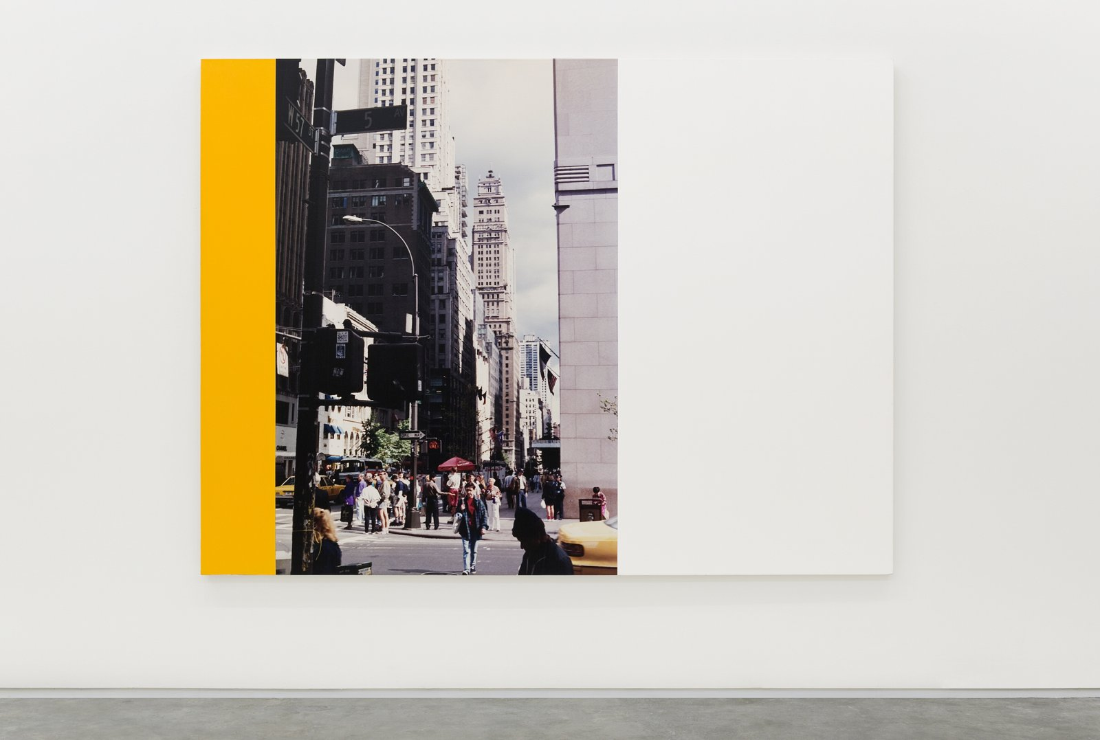 Ian Wallace, New York City (5th & 57th) I, 1993–2001, acrylic and photolaminate on canvas, 96 x 72 in. (244 x 183 cm)