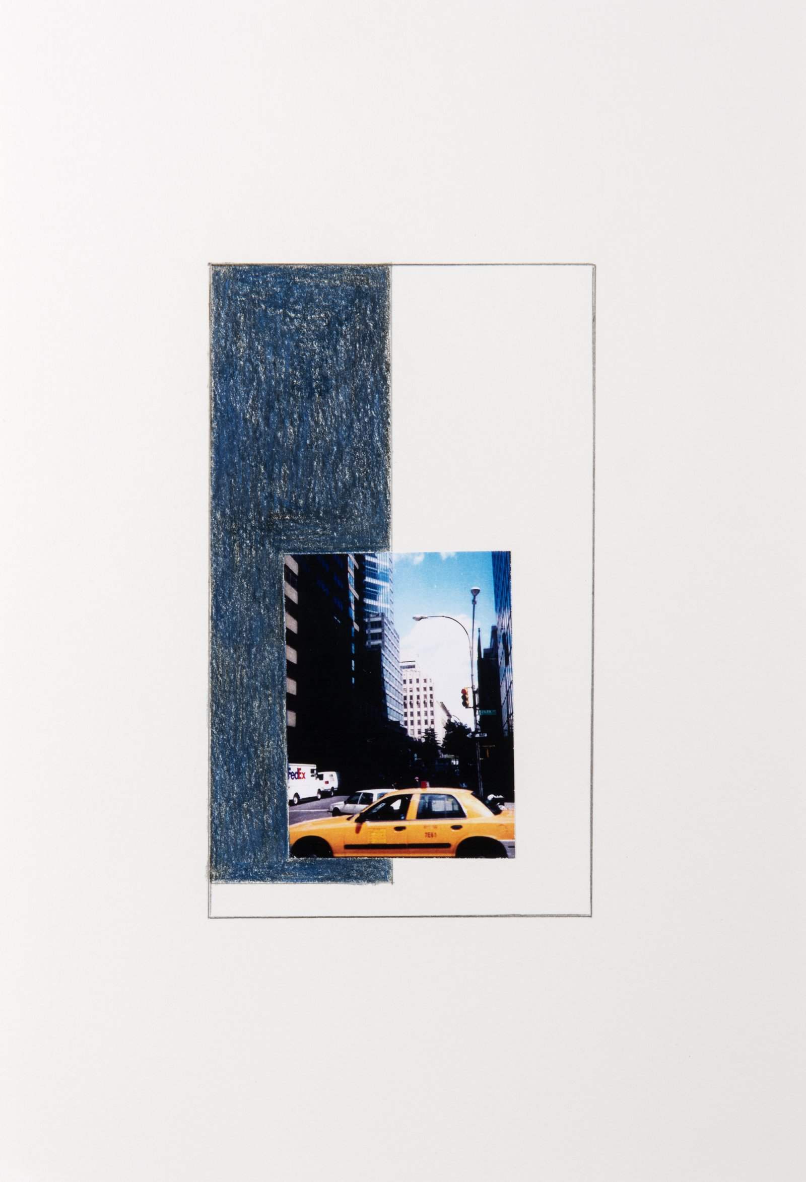Ian Wallace, New York Series Studies, 2001, photocopy with pencil on paper,11 x 7 in. (28 x 18 cm)