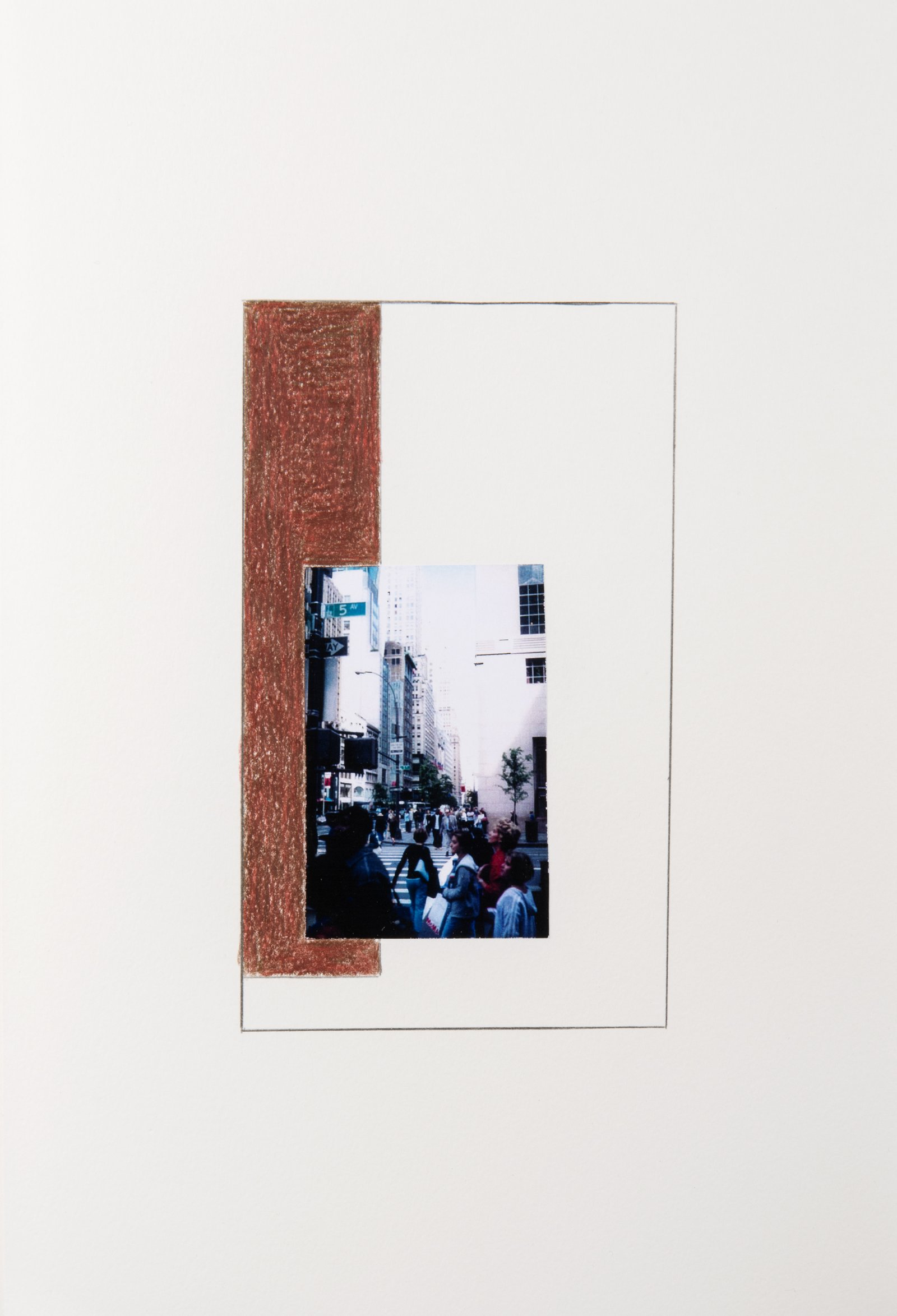 Ian Wallace,New York Series Studies, 2001, photocopy with pencil on paper,11 x 7 in. (28 x 18 cm)