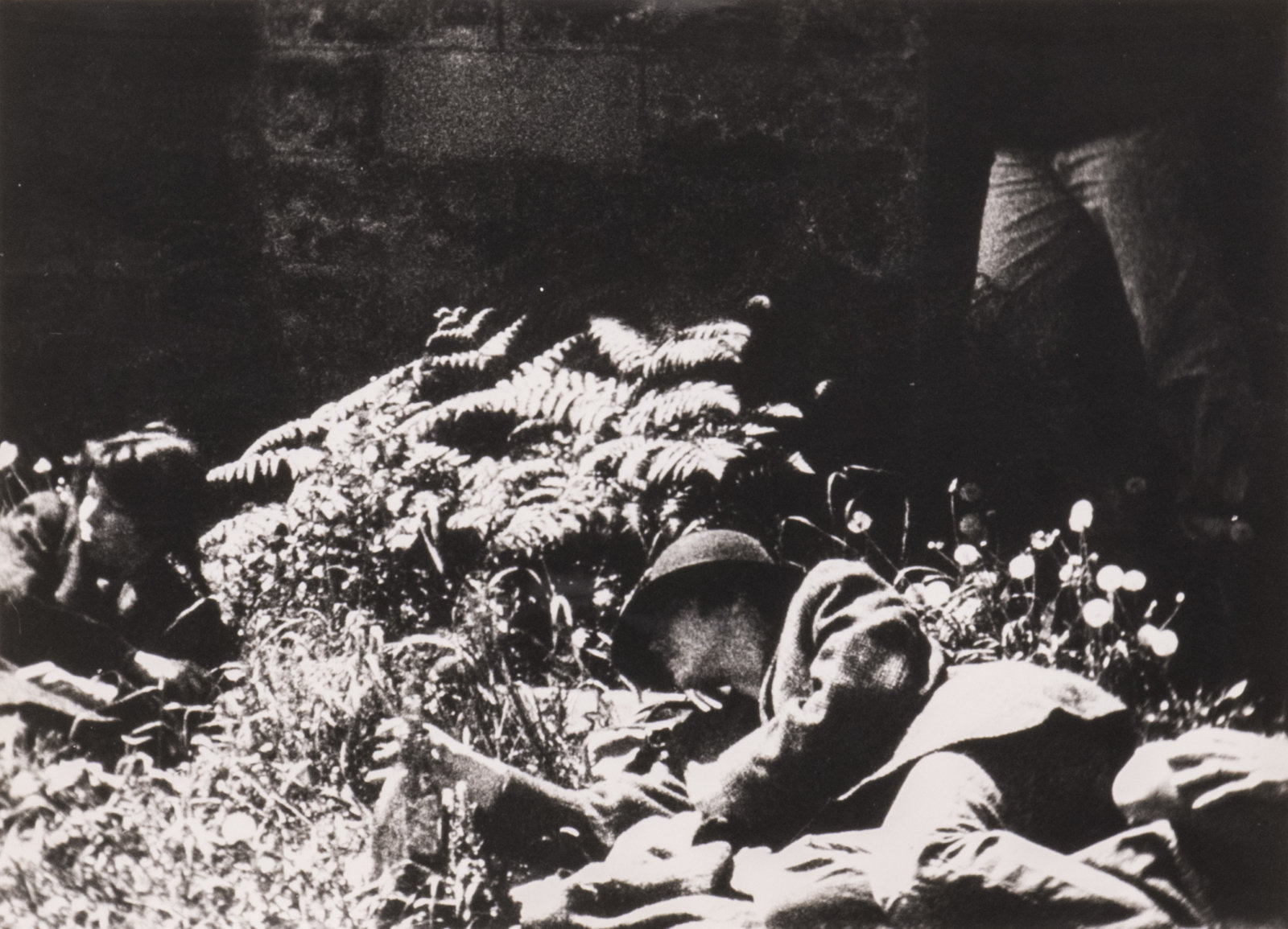 Ian Wallace, Poverty (detail), 1980, 8 black and white photographs, 11 x 120 in. (28 x 305 cm)
