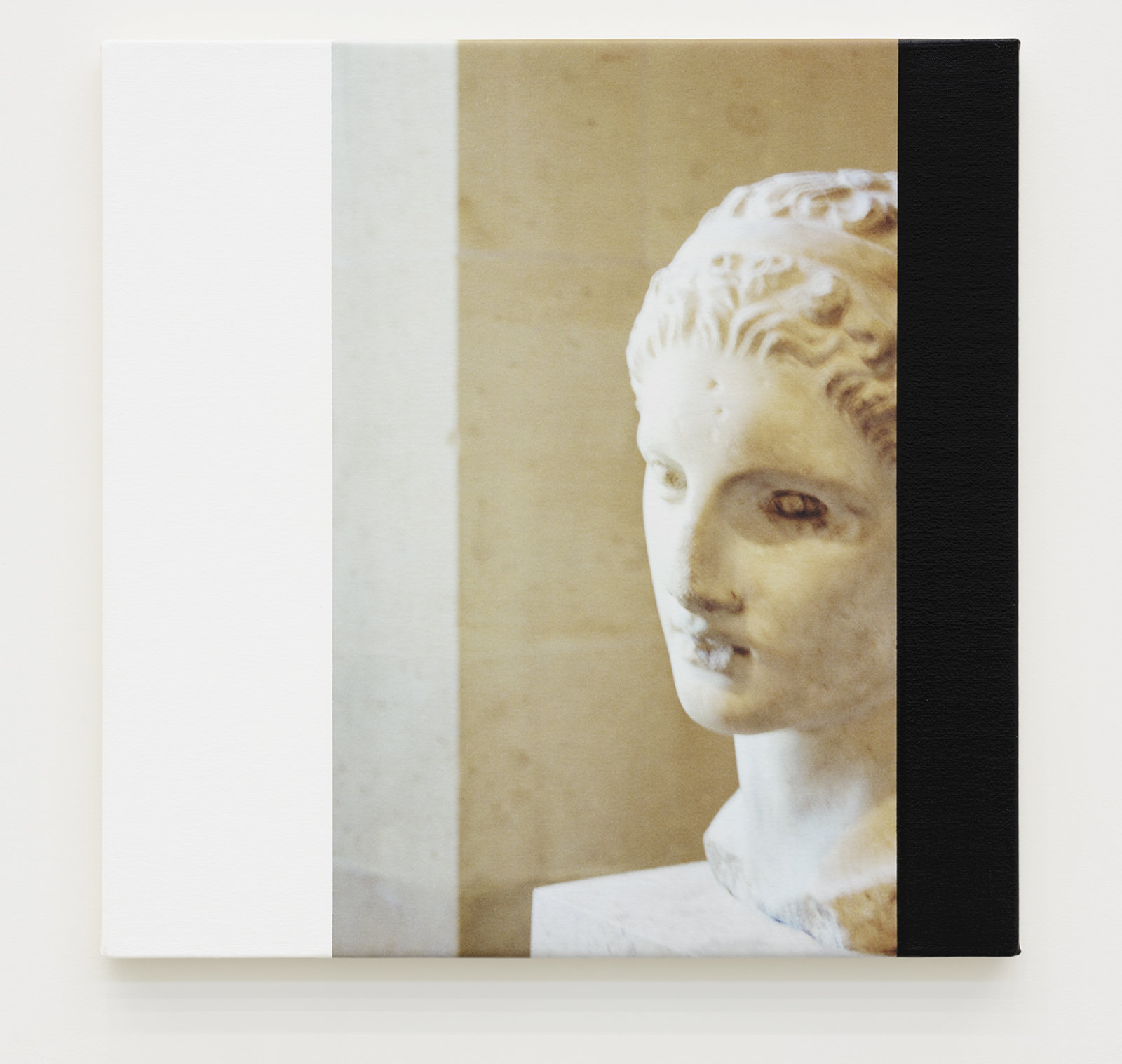 Ian Wallace, Roman Heads I–IV, 1990/2015, photolaminate with acrylic on canvas, 4 parts, each 24 x 24 in. (61 x 61 cm) by Ian Wallace