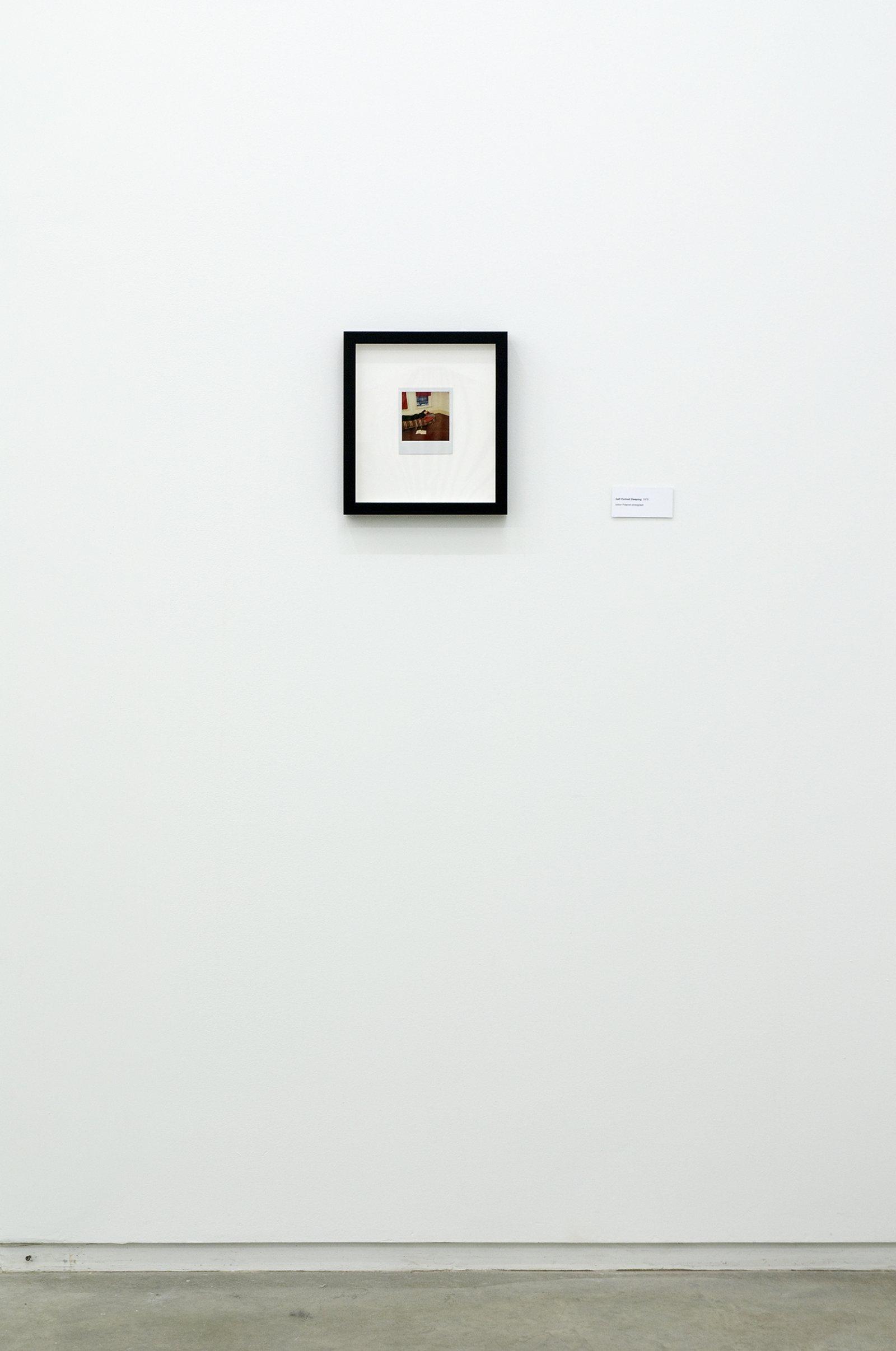 Ian Wallace,Self-Portrait Sleeping, 1979, coloured polaroid photograph,4 x 4 in. (11 x 9 cm)