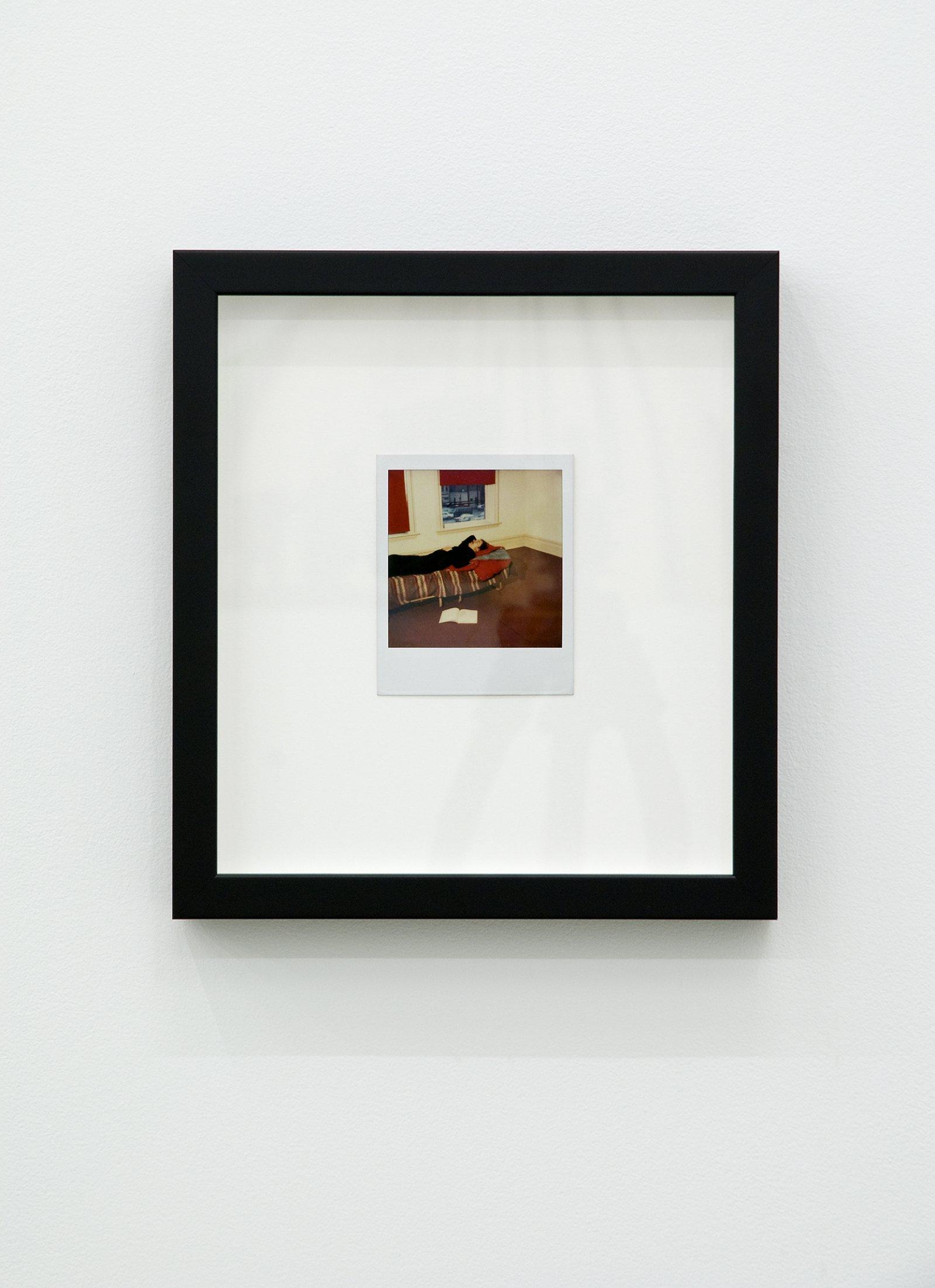 Ian Wallace, Self-Portrait Sleeping, 1979, colour polaroid photograph, 4 x 4 in. (11 x 9 cm) by Ian Wallace