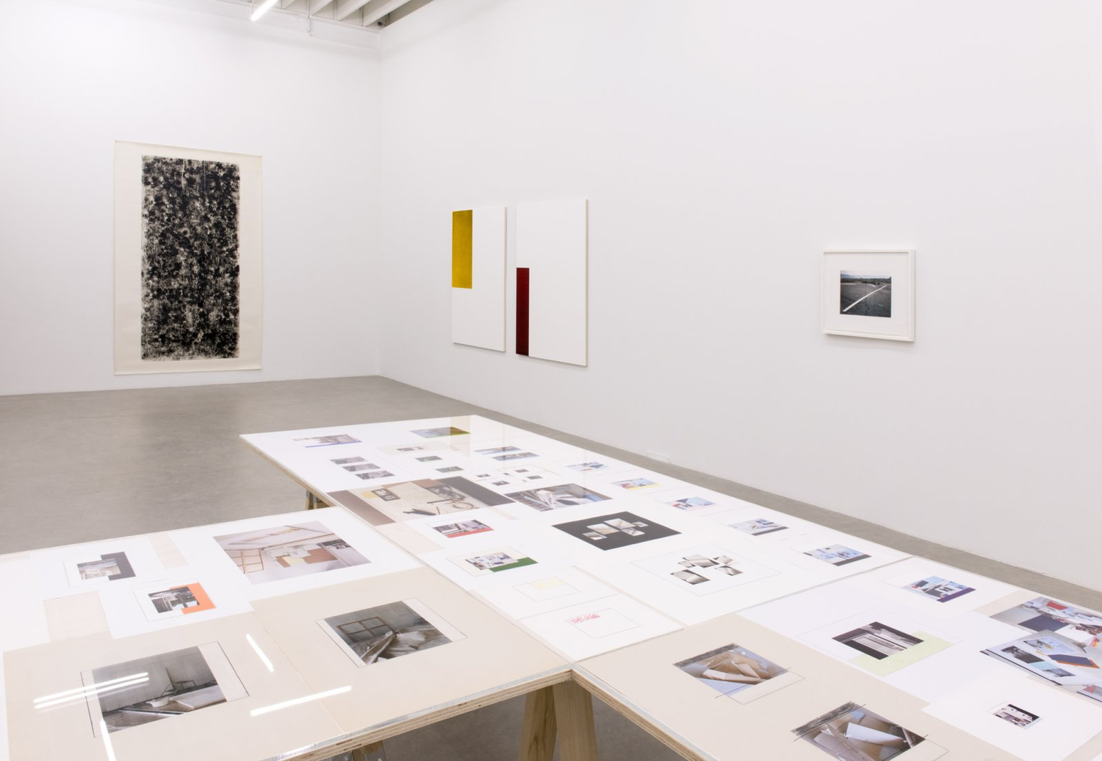 Ian Wallace, installation view, Street Floor Table Page Wall Canvas, 1969-2017, Catriona Jeffries, 2017 by Ian Wallace