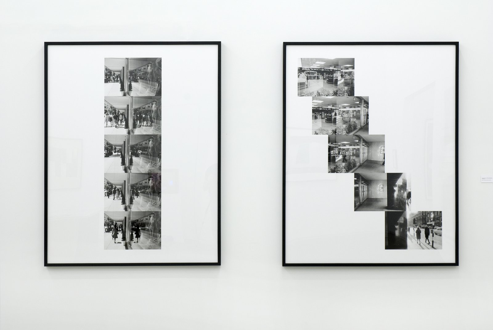 Ian Wallace,Street ReflectionsandPan Am Scan, 1970–2009, 2black and white photo inkets, each 61 x 48 in. (154 x 121 cm)
