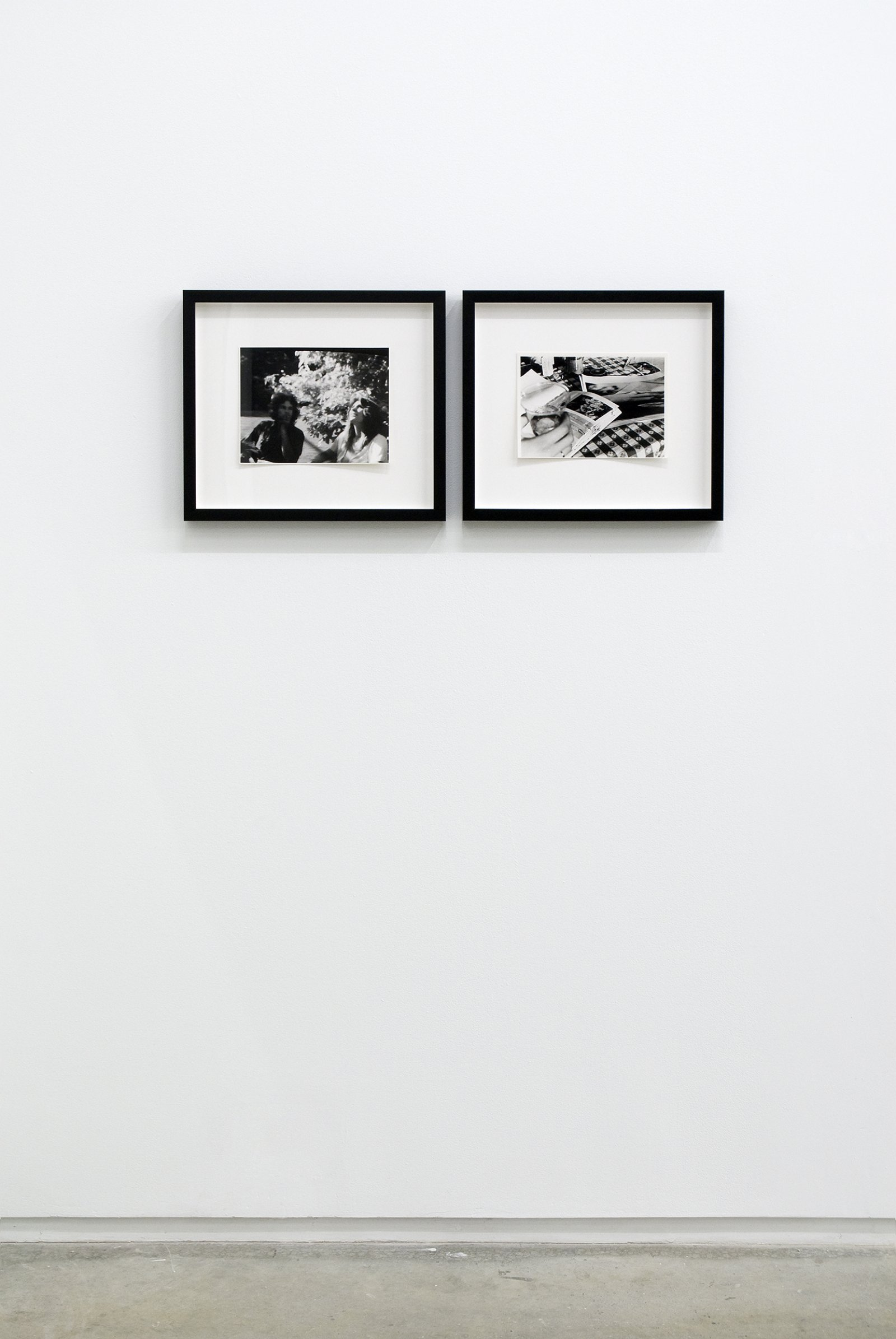 Ian Wallace,Studies for The Summer Script I & II, 1973, 2 black and white photographs, each 15 x 17 in. (37 x 43 cm)