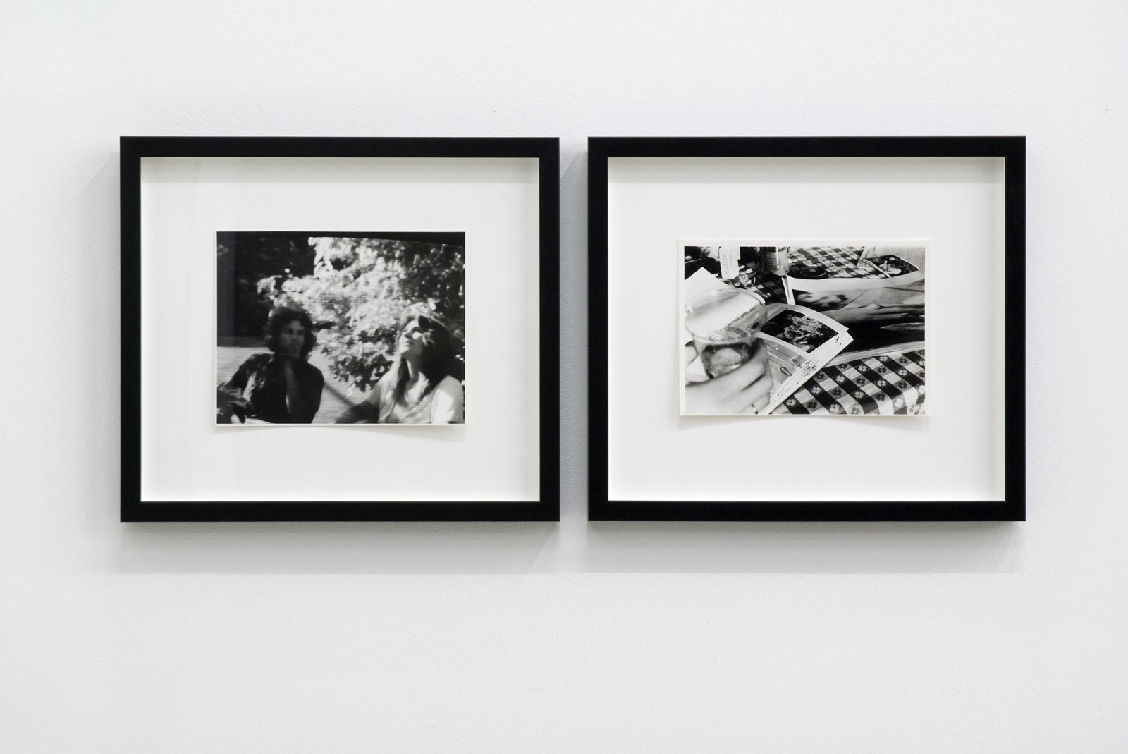 Ian Wallace, Studies for The Summer Script I & II, 1973, 2 black and white photographs, each 15 x 17 in. (37 x 43 cm)  by Ian Wallace