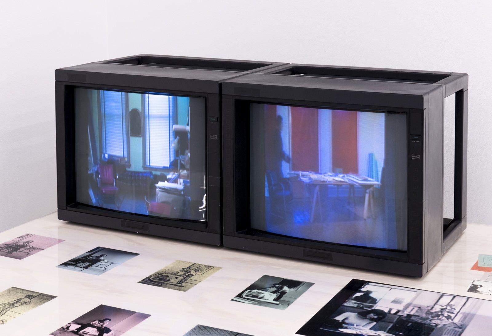 Ian Wallace, Studio Work, 1979, 2 channel video, 3/4 inch video transferred to DVD by Ian Wallace