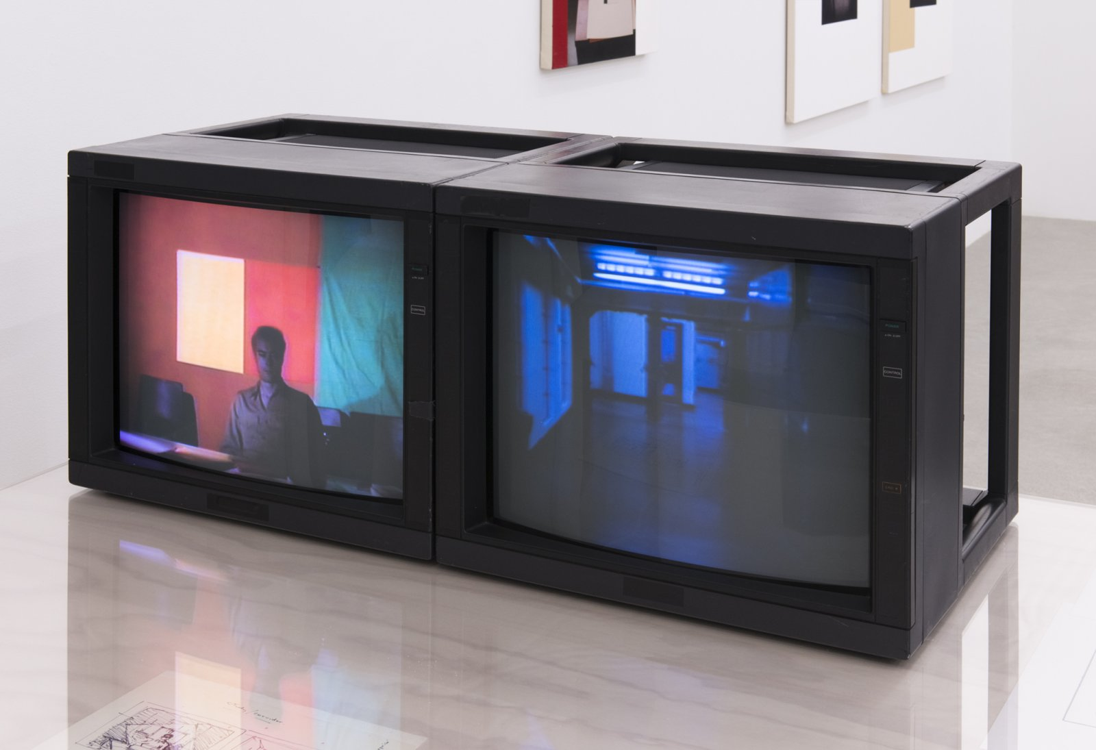 Ian Wallace,Study Corridor, 1983, 2 channel video, 3/4 inch video transferred to DVD