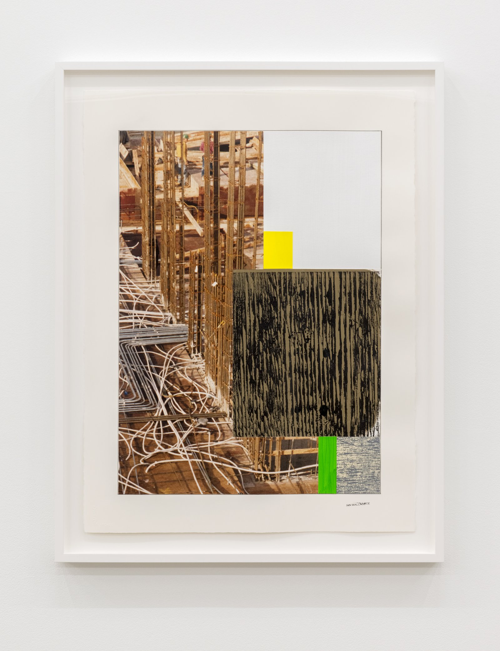 Ian Wallace, Study for Composition with Construction Site II, 1992–2012, paper, pencil, acrylic, photograph, ink, monoprint on canvas, 30 x 23 in. (77 x 57 cm) by Ian Wallace
